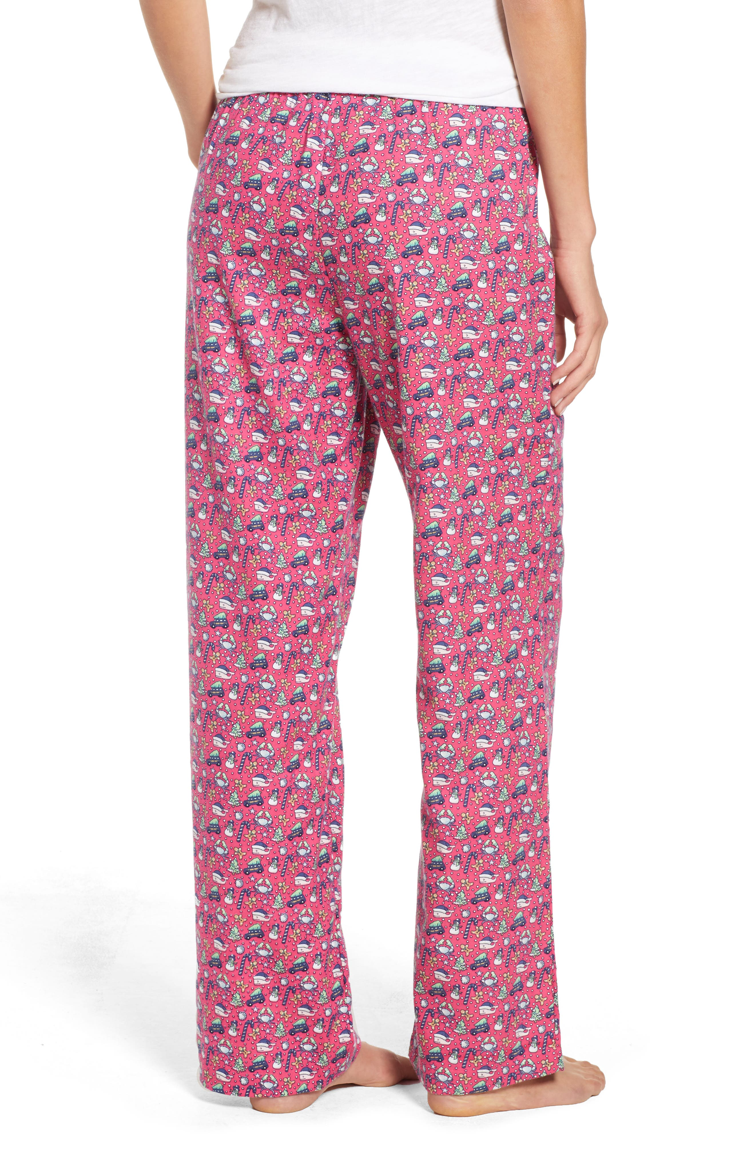 Holiday Print Lounge Pants,                             Alternate thumbnail 2, color,                             GOJI BERRY