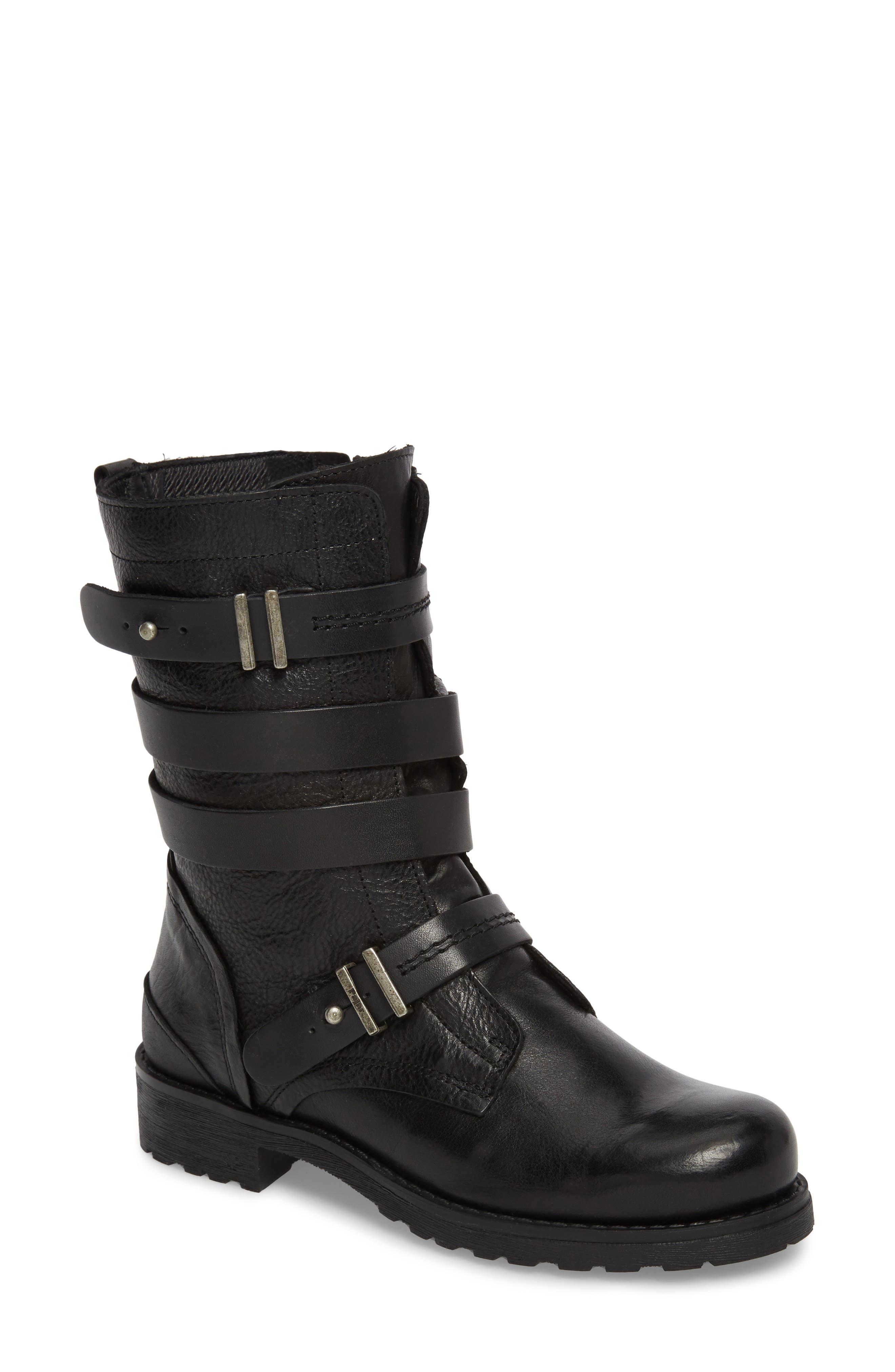 Latias Waterproof Moto Boot,                         Main,                         color, 001