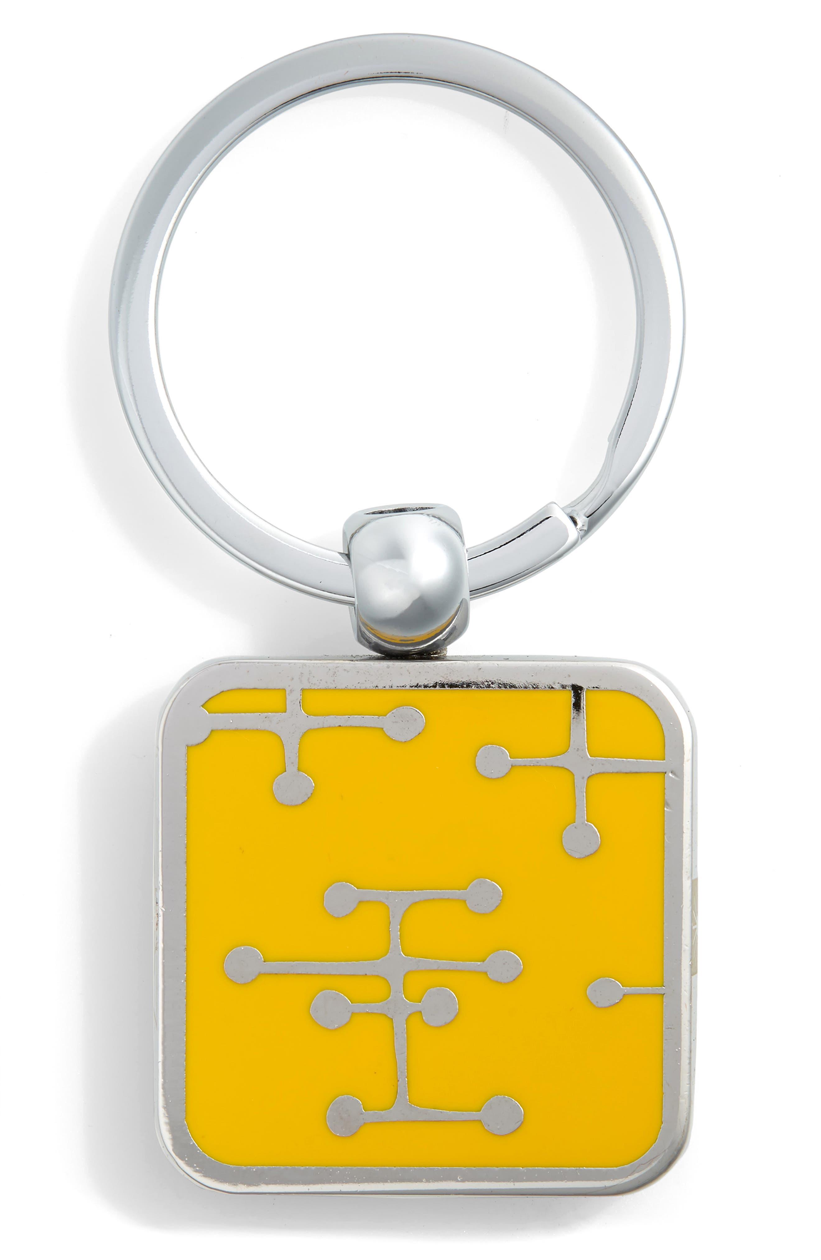 Dots Key Ring,                             Alternate thumbnail 2, color,                             SILVER