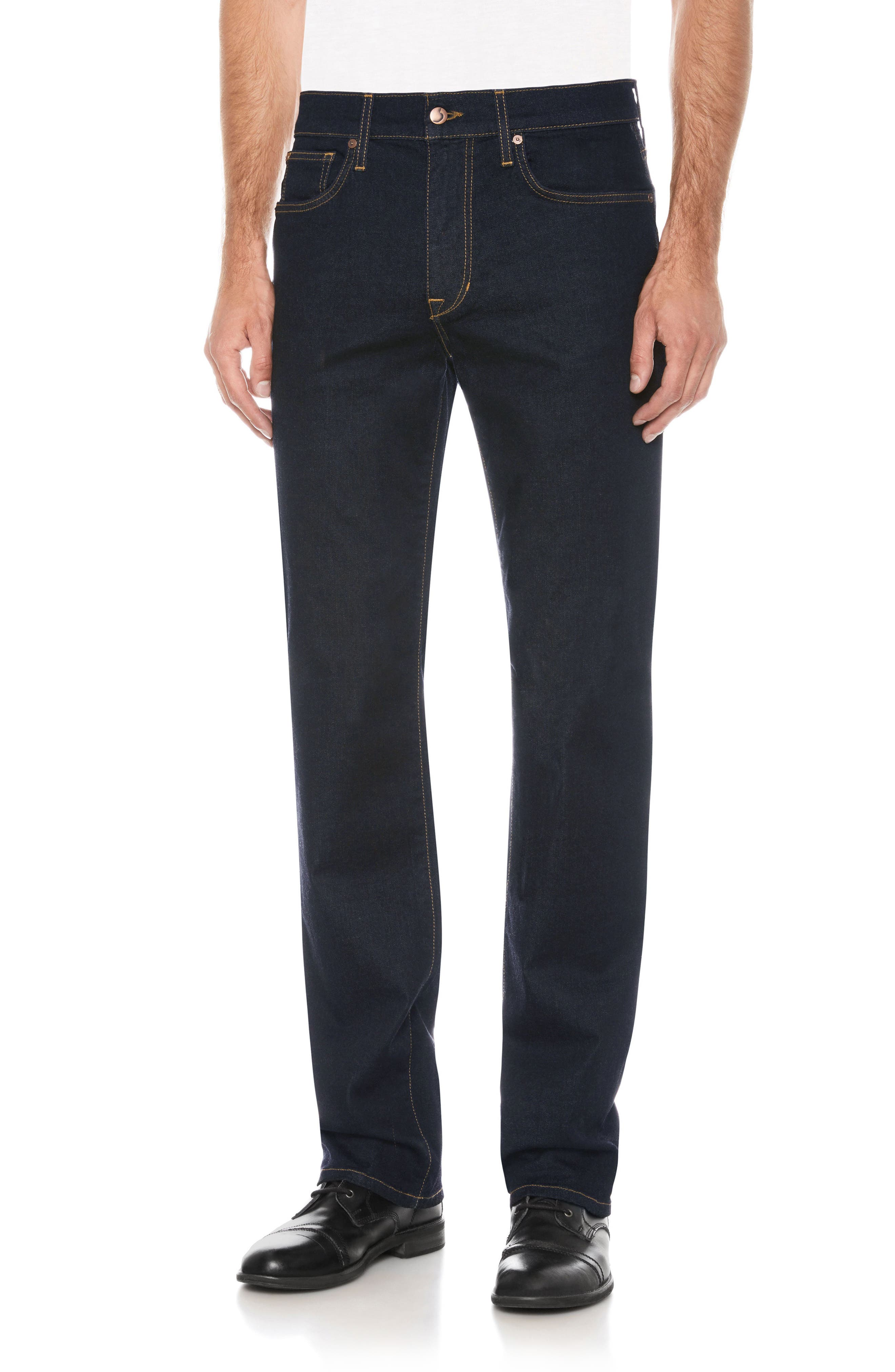 Classic Straight Fit Jeans,                             Main thumbnail 1, color,                             400