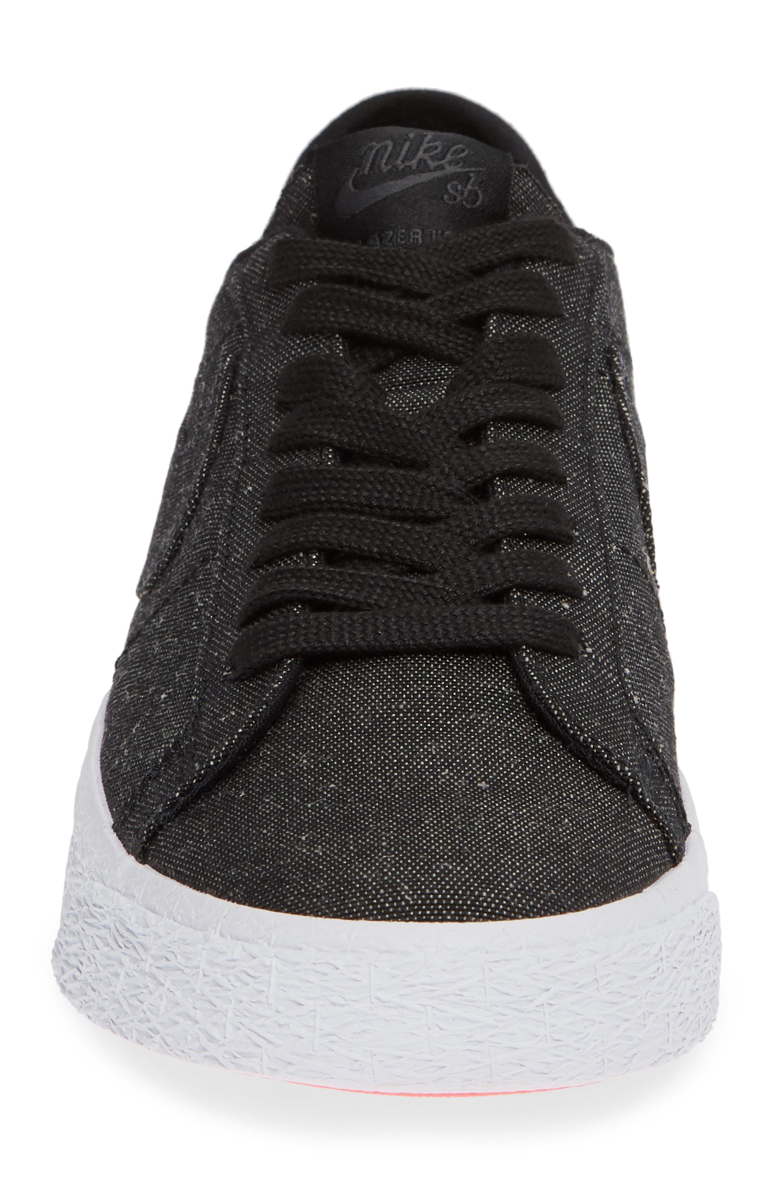 SB Zoom Blazer Canvas Decon Skateboarding Sneaker,                             Alternate thumbnail 4, color,                             001