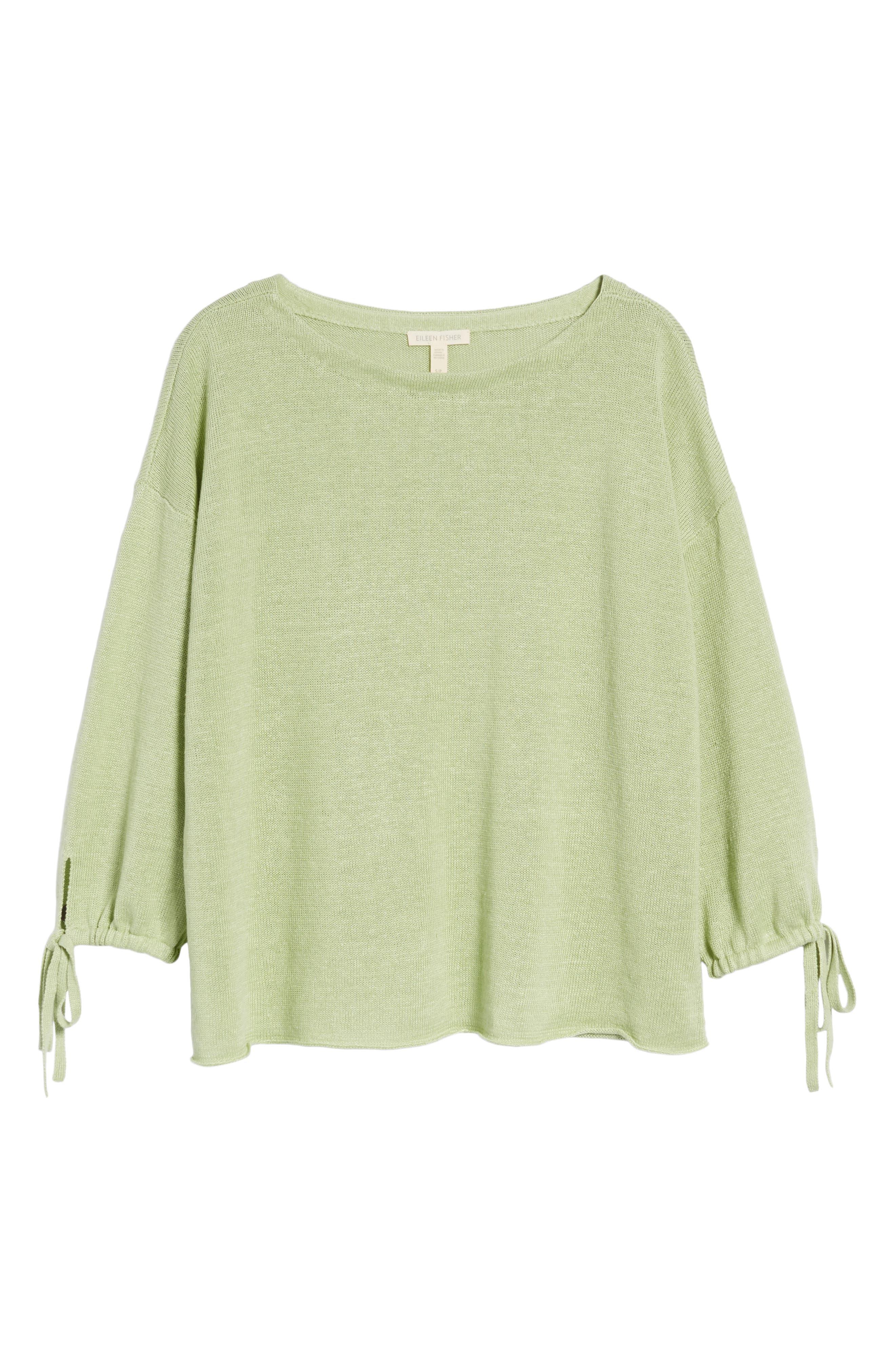 Organic Linen Sweater,                             Alternate thumbnail 23, color,