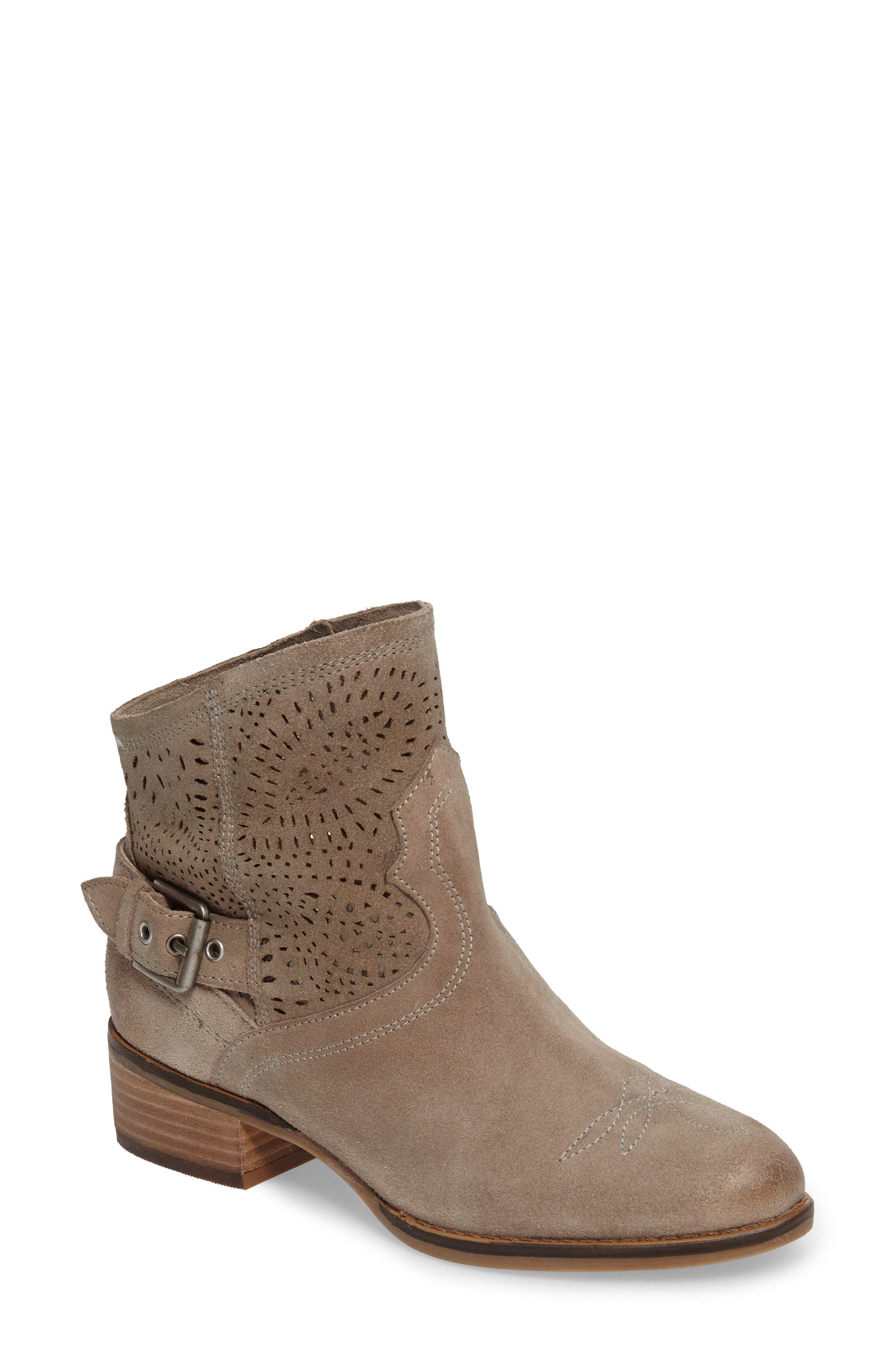 Zoey Perforated Bootie,                             Main thumbnail 3, color,