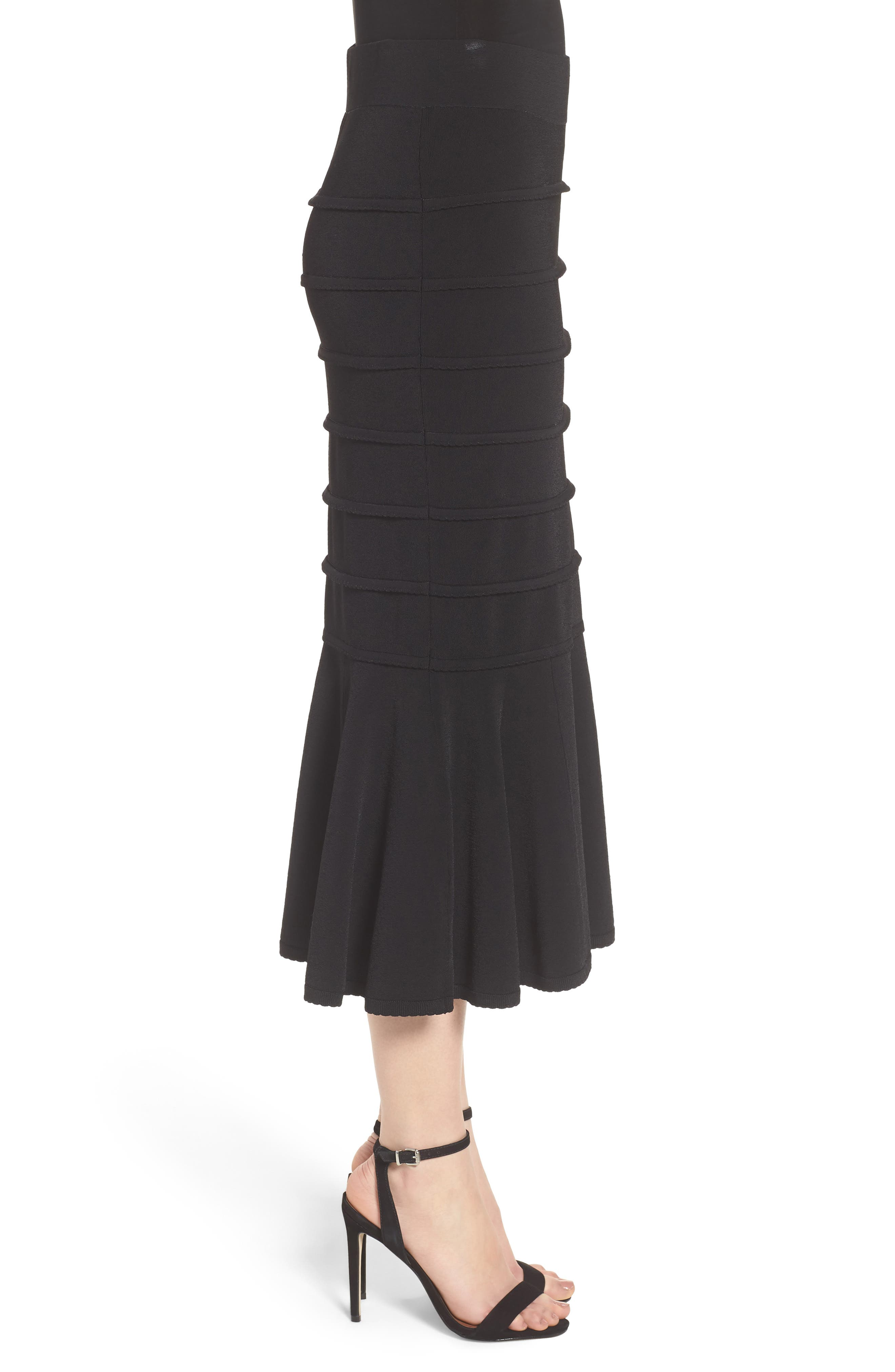 CHELSEA28,                             Trumpet Skirt,                             Alternate thumbnail 3, color,                             001