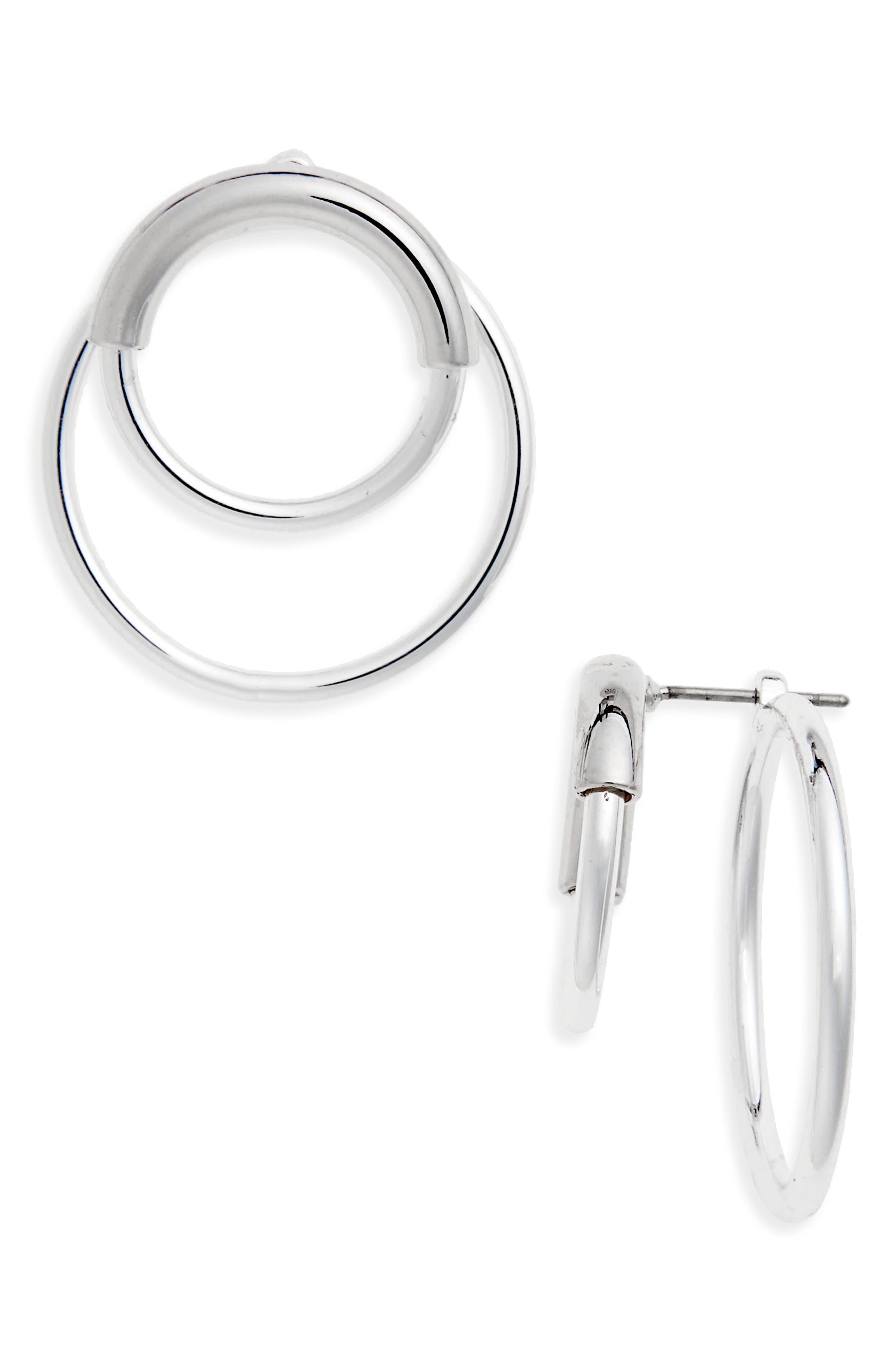 Ossie Drop Back Hoop Earrings,                             Main thumbnail 1, color,