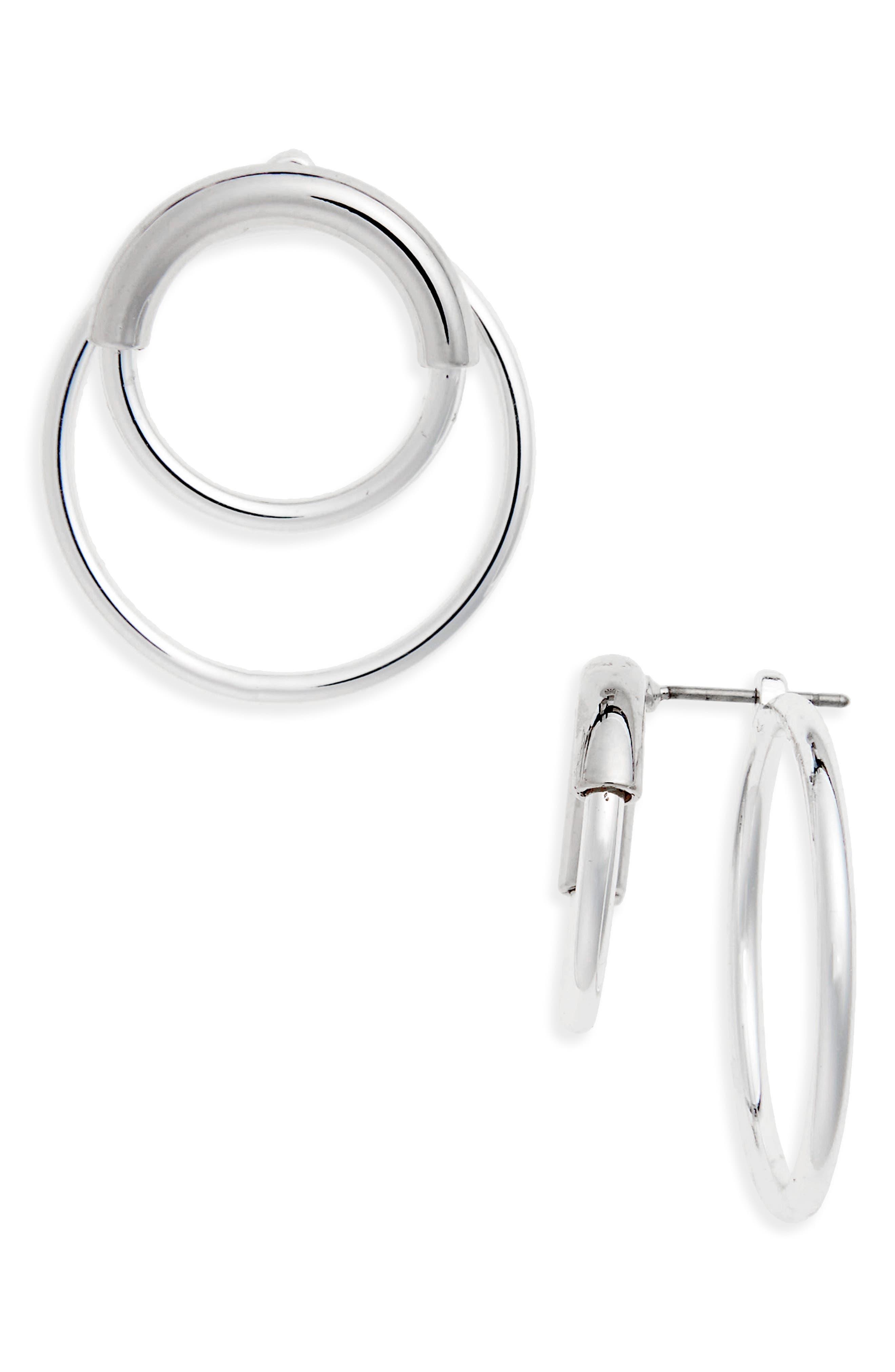 Ossie Drop Back Hoop Earrings,                         Main,                         color,