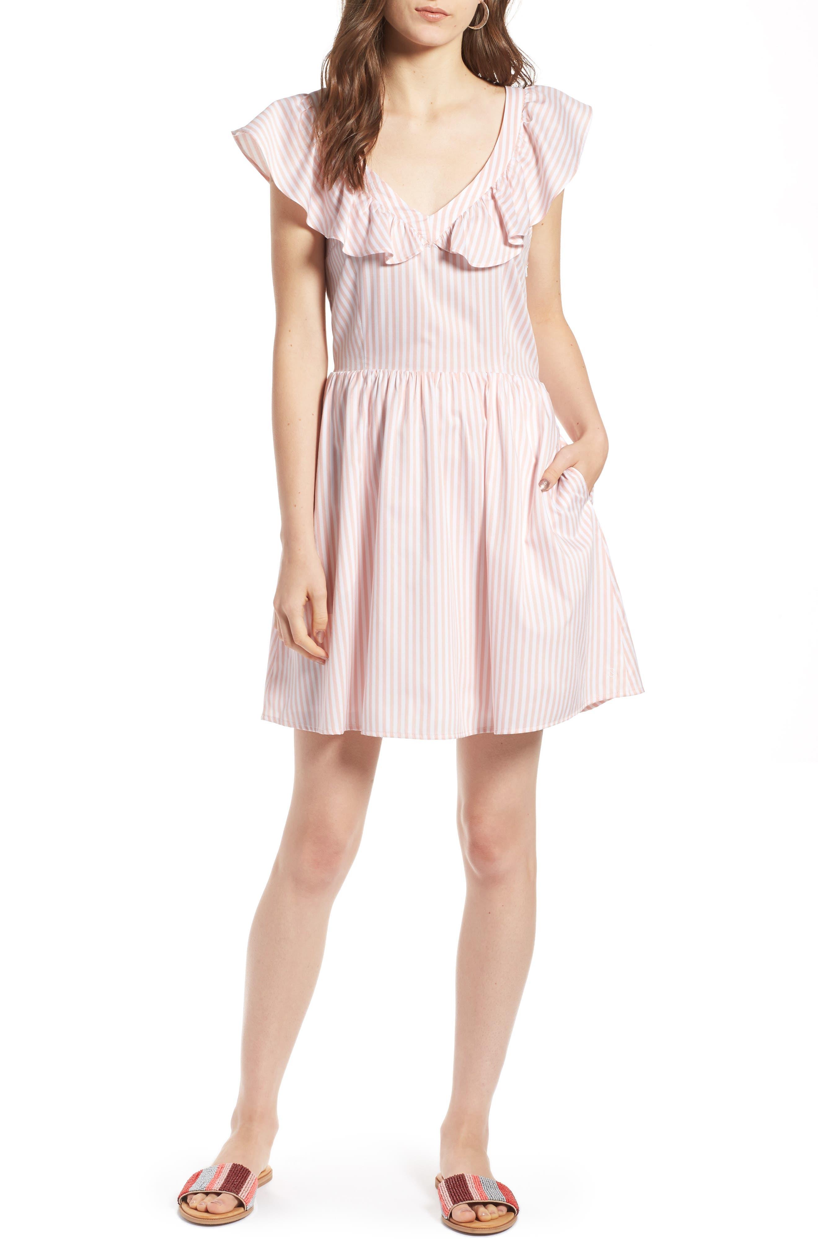 Ruffle Dress,                             Main thumbnail 1, color,                             660