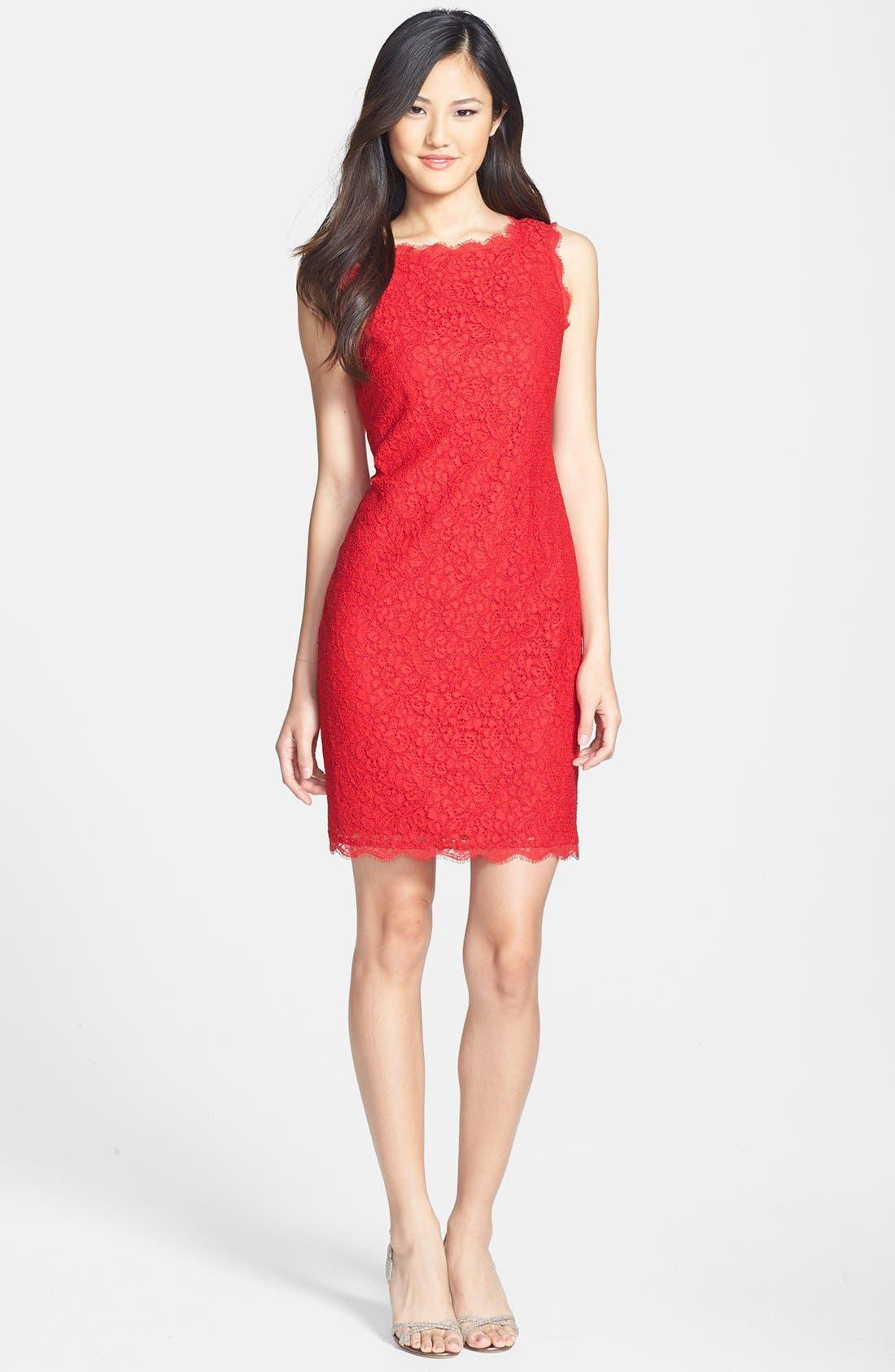 Boatneck Lace Sheath Dress,                             Main thumbnail 22, color,