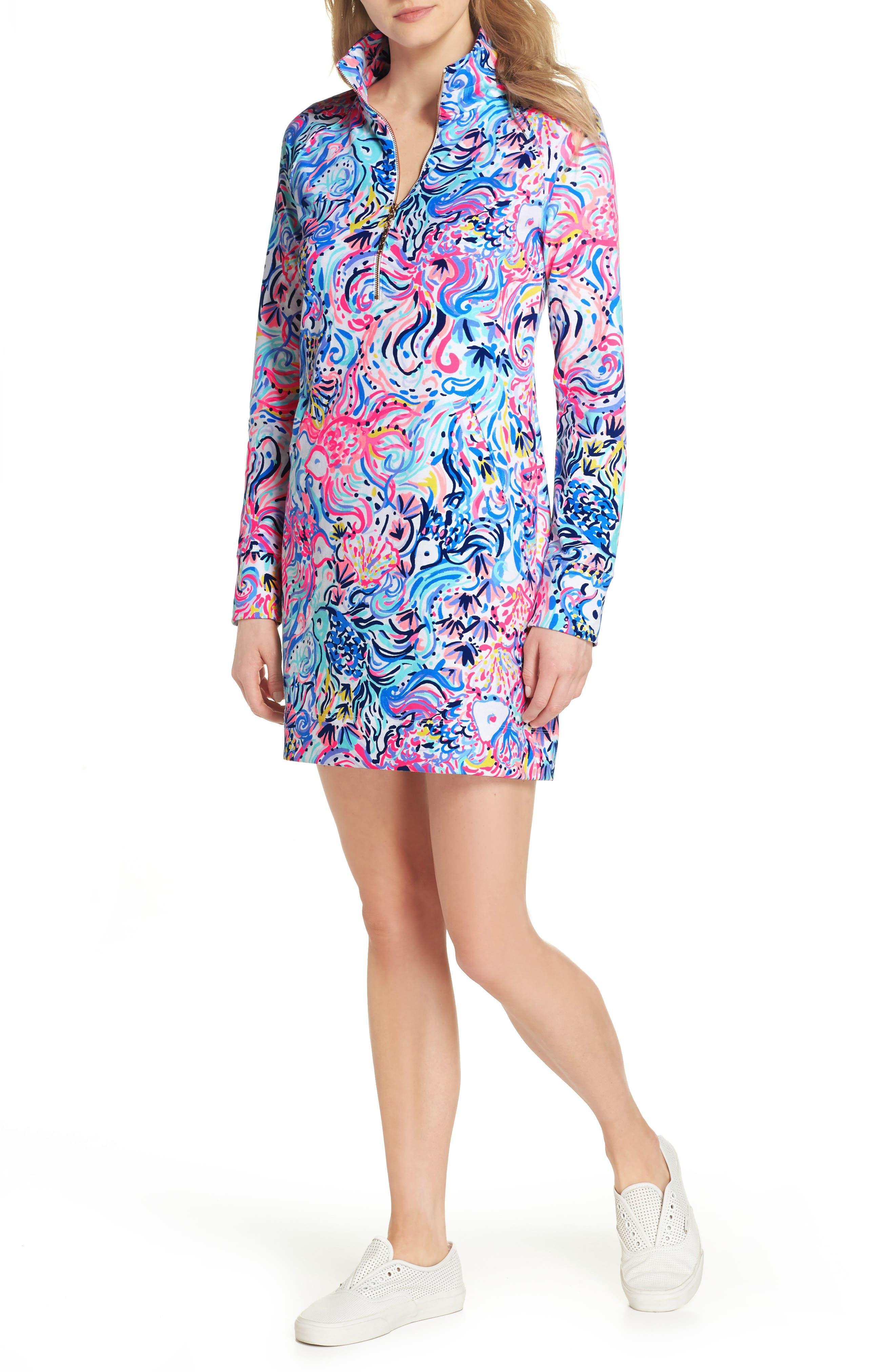 Skipper UPF 50+ Dress,                             Main thumbnail 1, color,                             MULTI SO SOPHISHTICATED