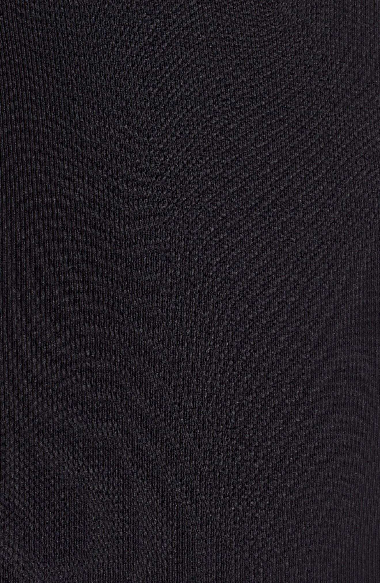 Pamela Ribbed Swimsuit,                             Alternate thumbnail 5, color,                             BLACK