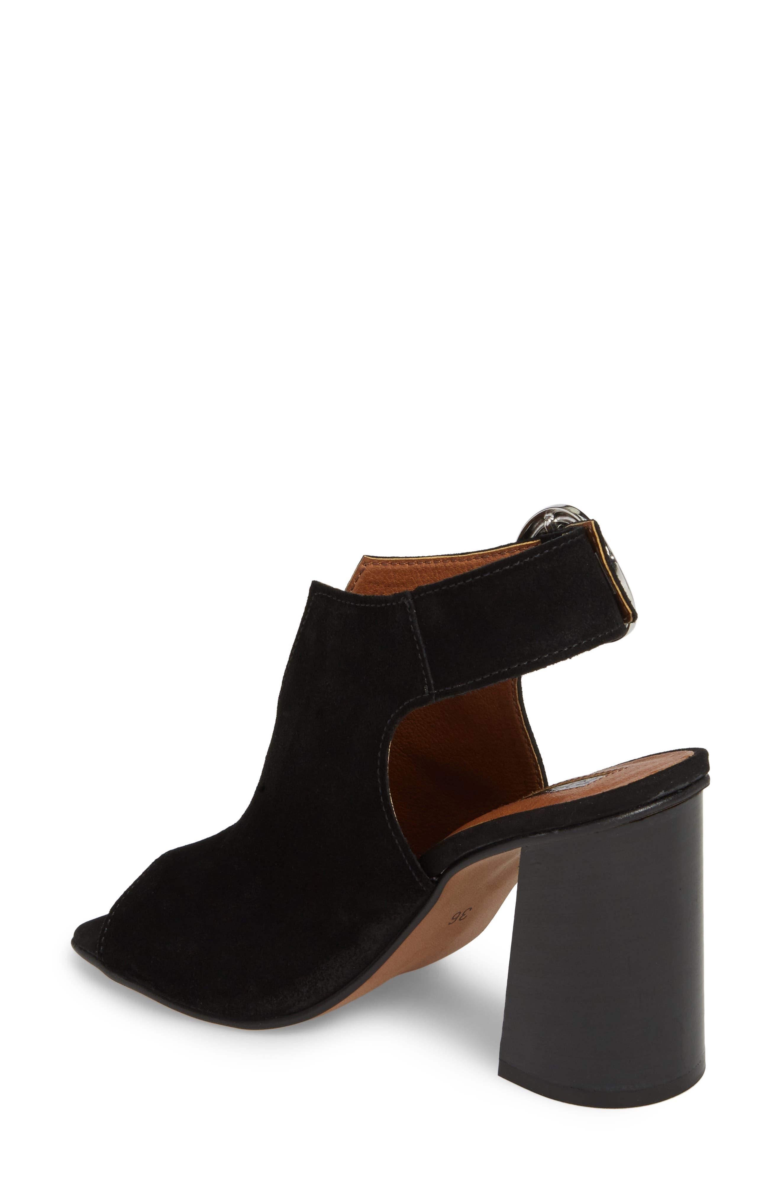 Nika Flared Heel Slingback Sandal,                             Alternate thumbnail 3, color,