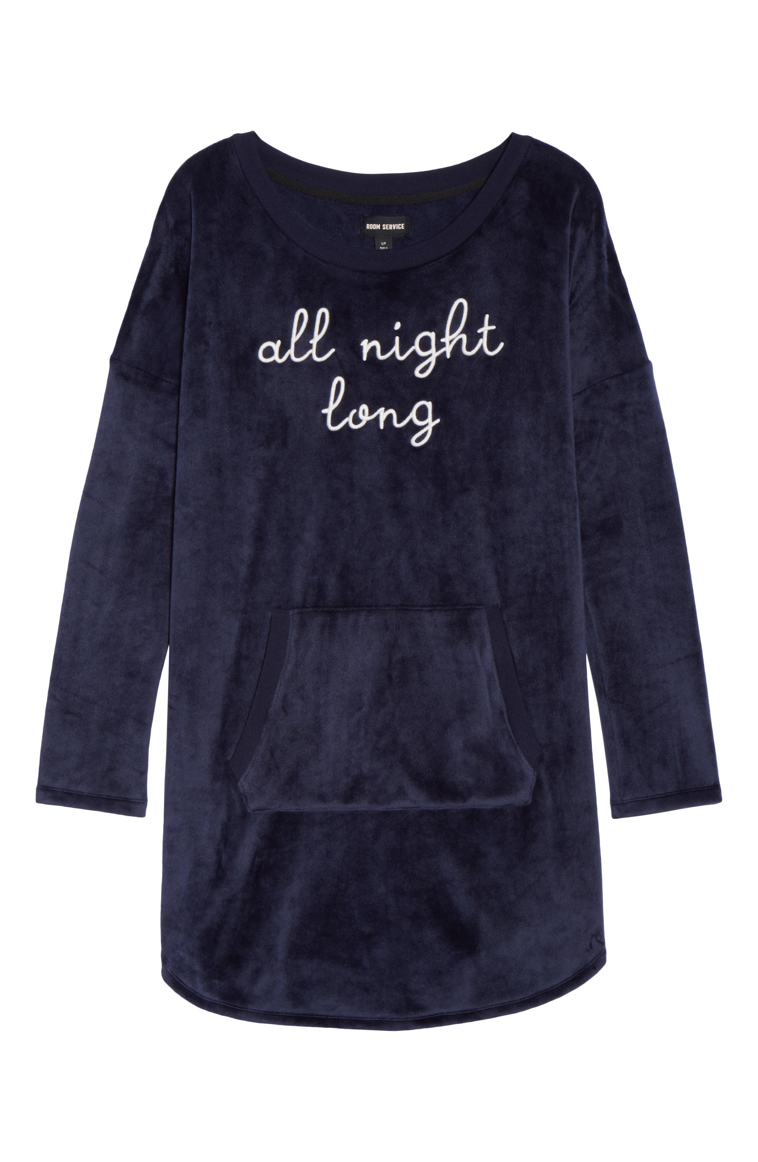 Luxury Plush Sleep Shirt,                             Alternate thumbnail 12, color,