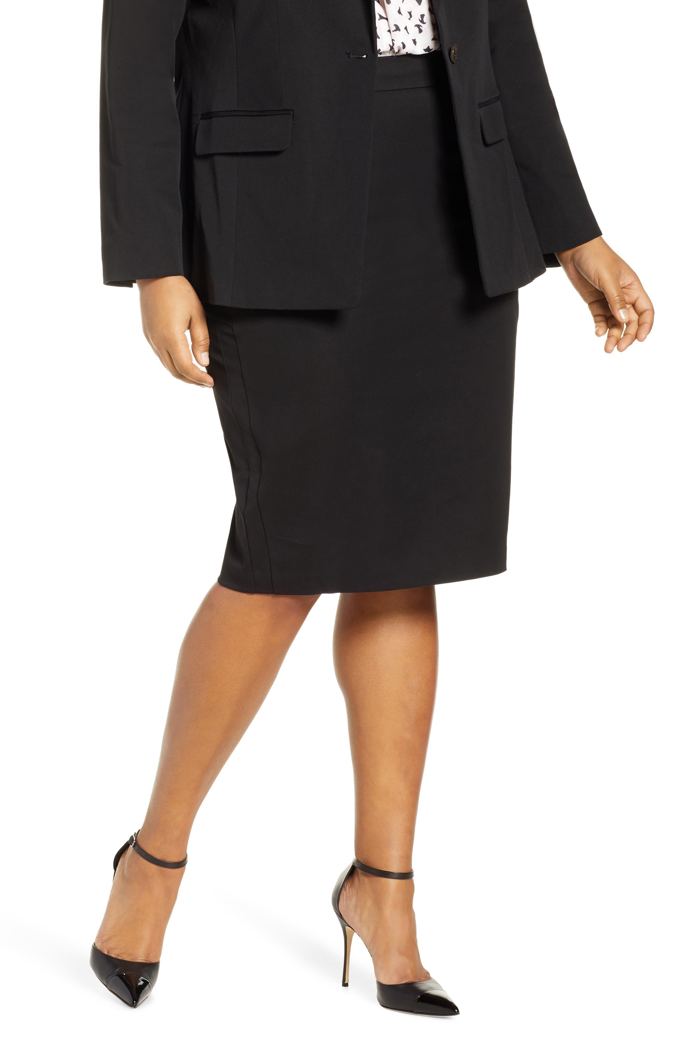 Plus Size Eloquii Stretch Pencil Skirt, Black