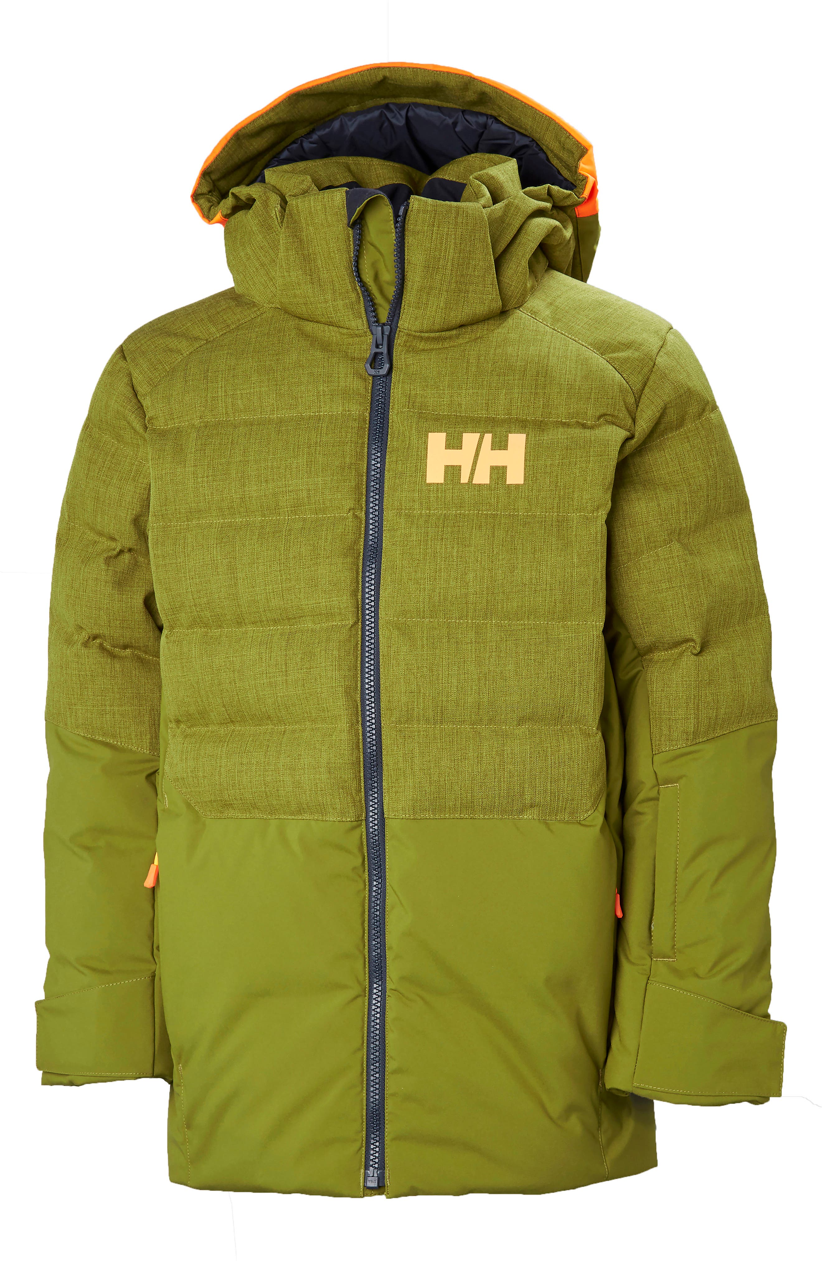 Jr. North Waterproof & Windproof 480-Fill Power Down Jacket,                             Main thumbnail 1, color,                             FIR GREEN