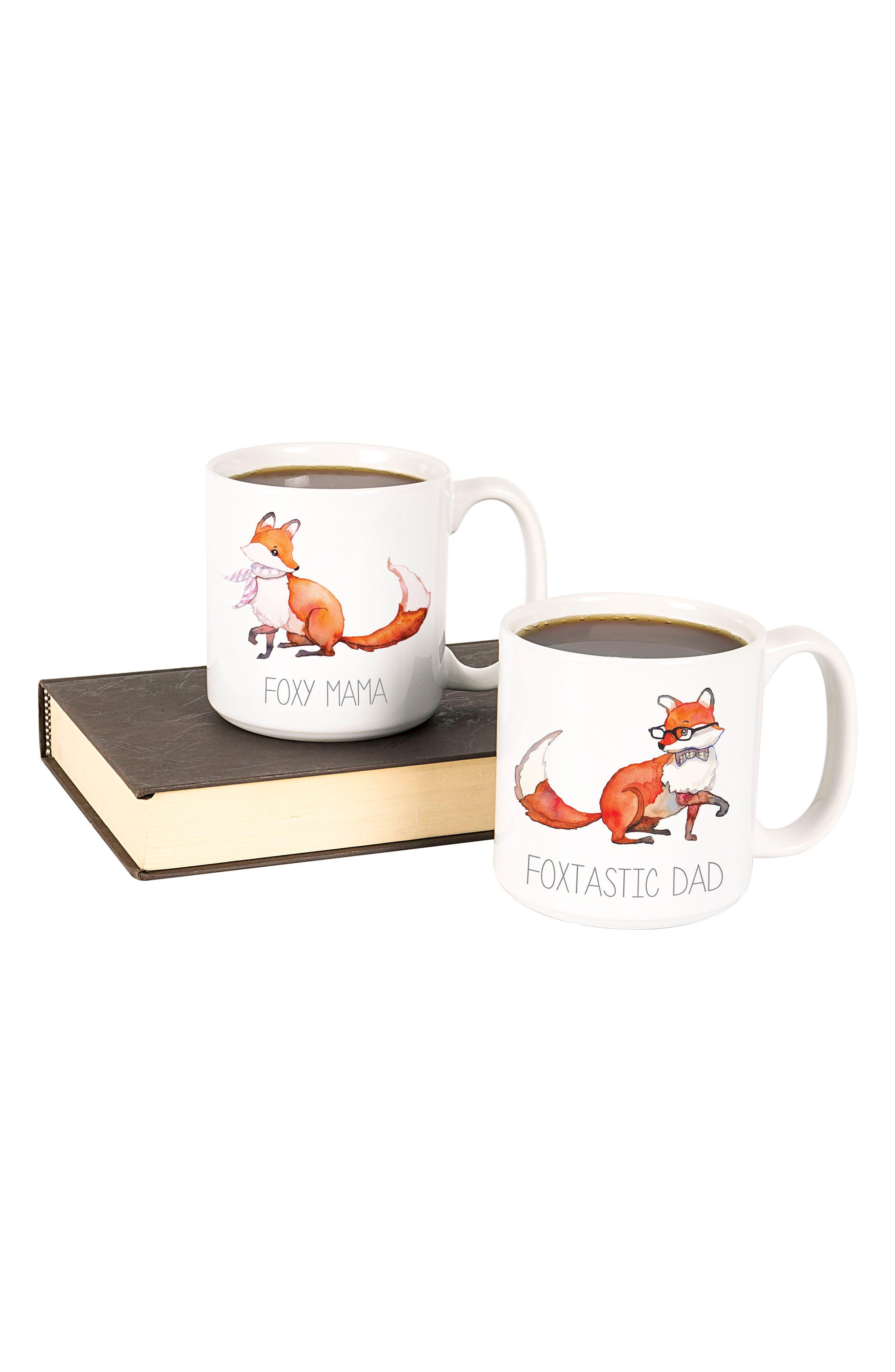 Mom & Dad Fox Set of 2 Coffee Mugs,                             Alternate thumbnail 2, color,                             100