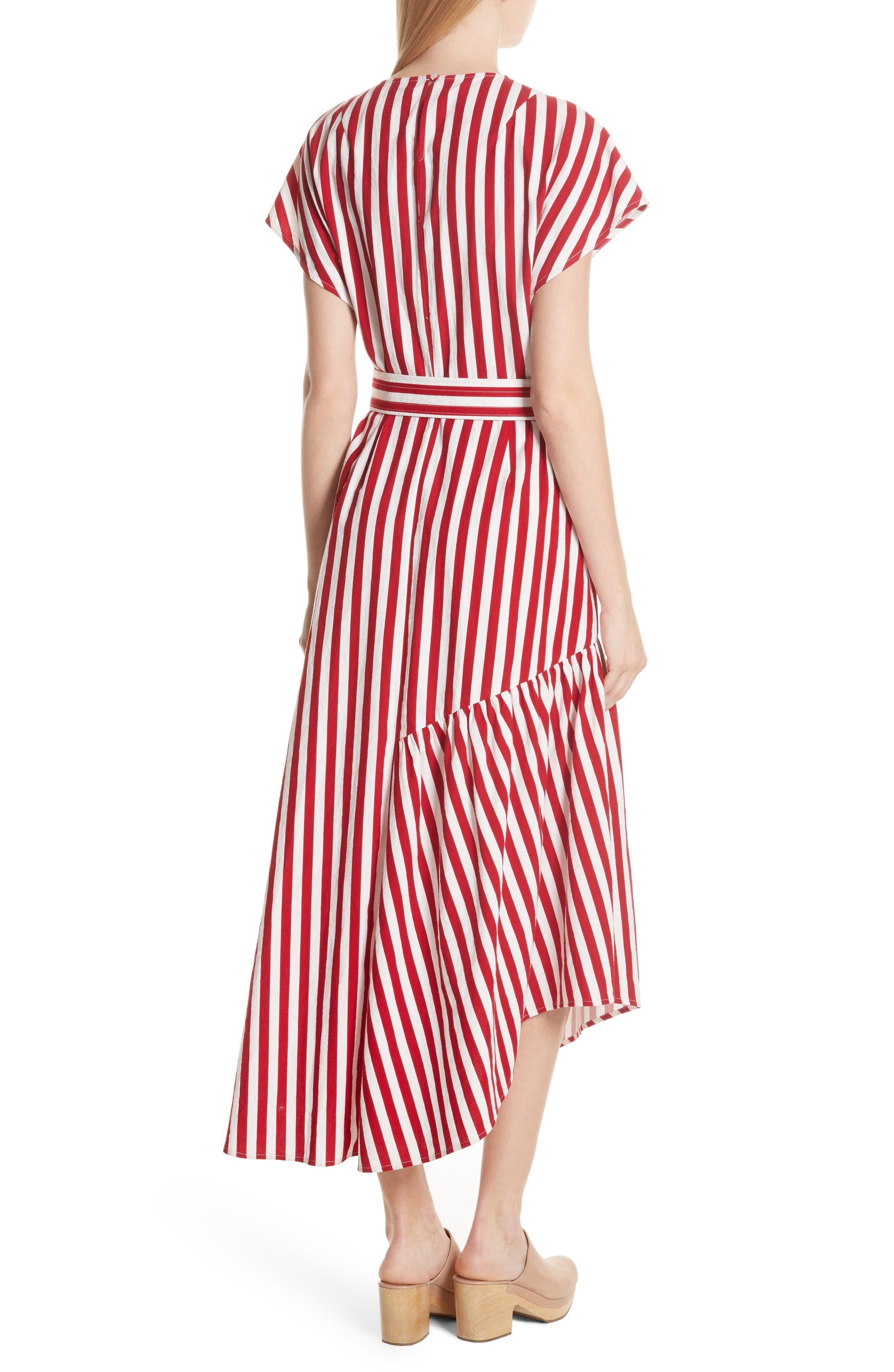 Steady Asymmetrical Dress,                             Alternate thumbnail 2, color,                             RED