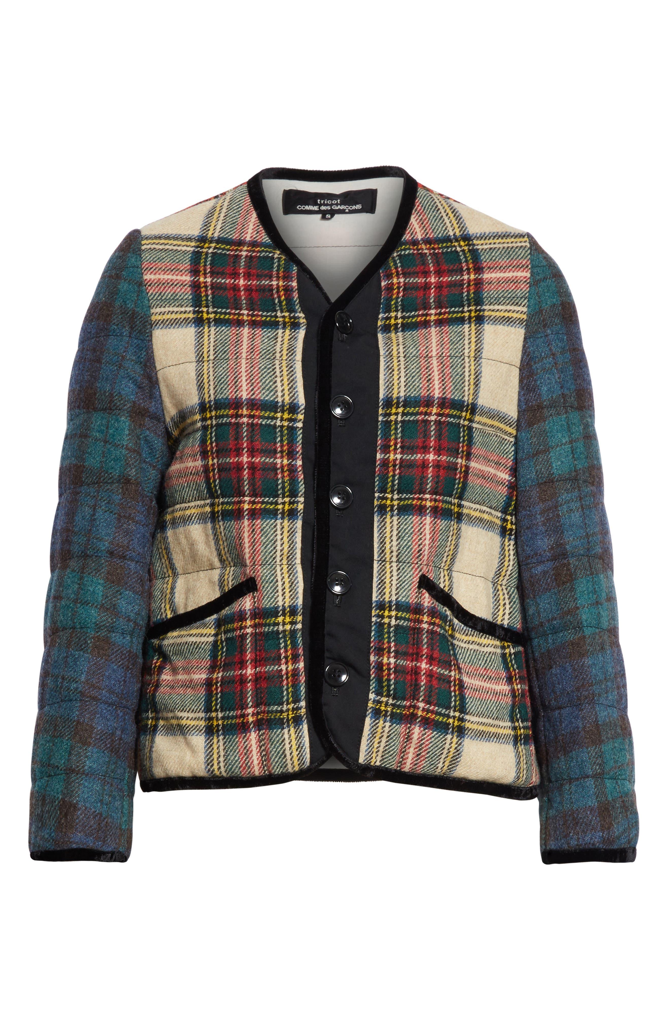 Mixed Tartan Wool Jacket,                             Alternate thumbnail 5, color,                             960