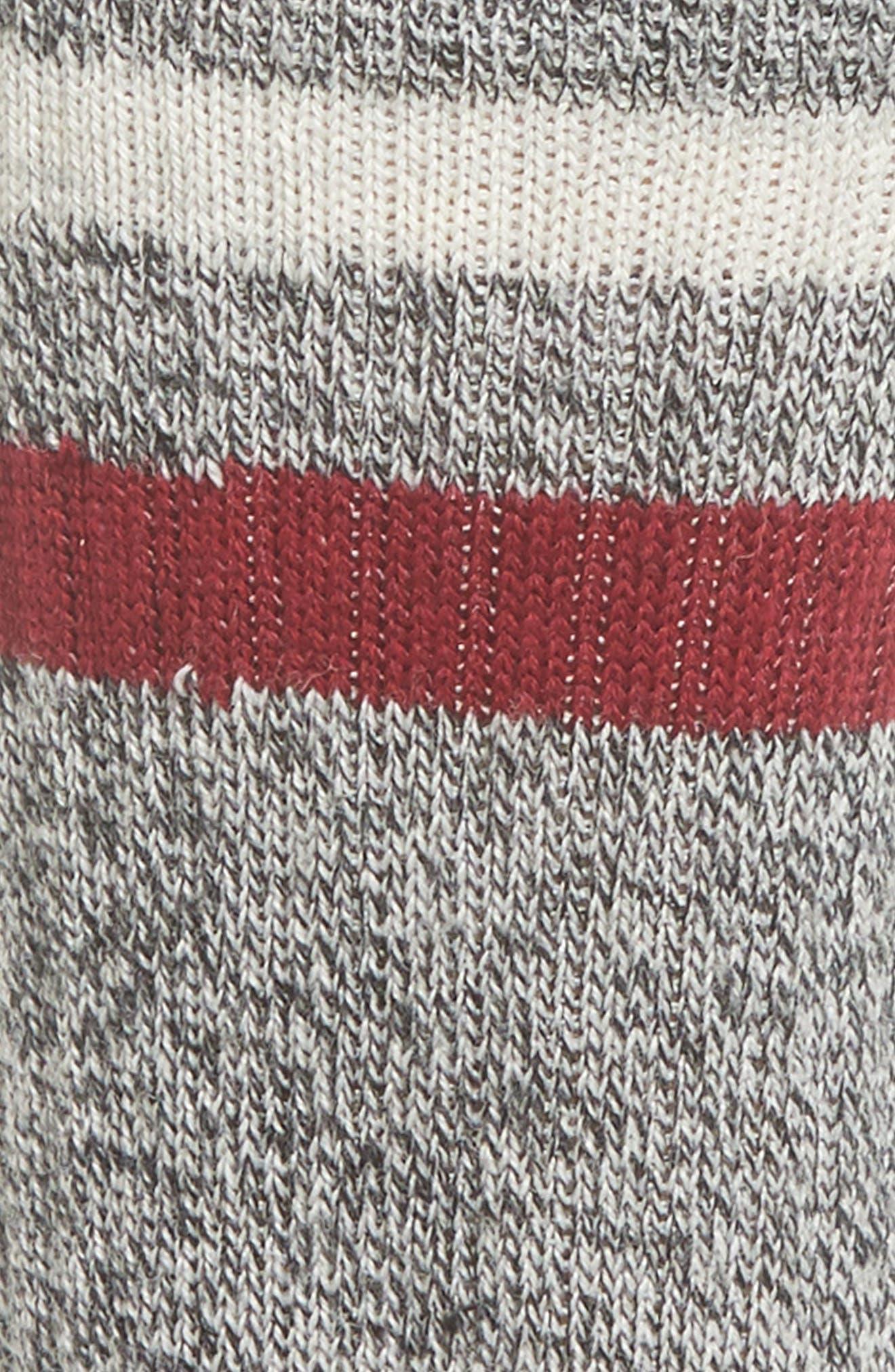 Birkie Stripe Crew Socks,                             Alternate thumbnail 2, color,                             TIBETAN RED HEATHER