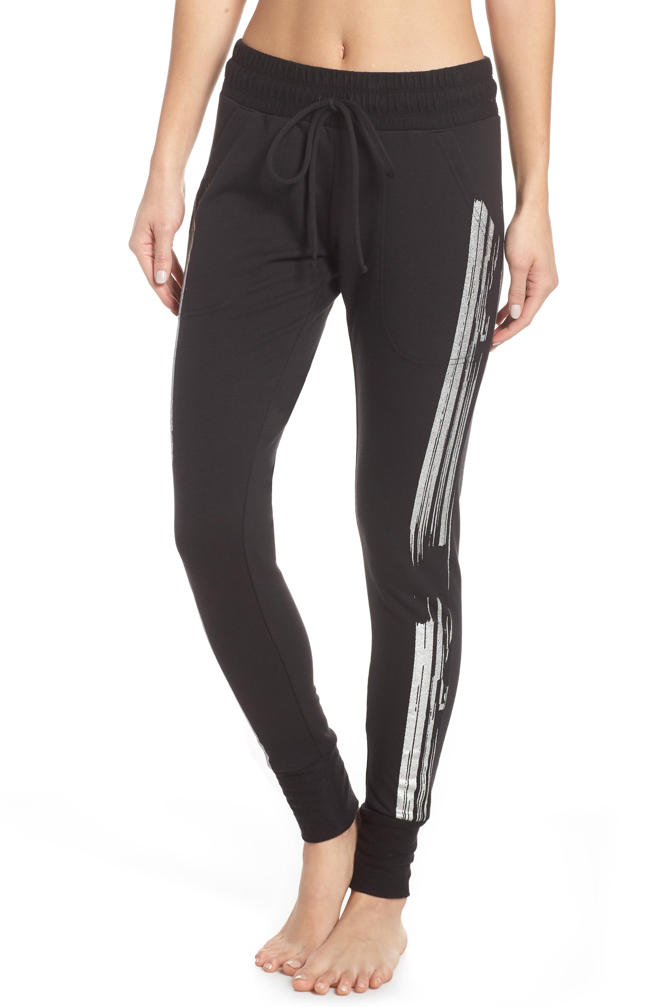 Fp Movement Sunny Skinny Sweat Jogger Pants in Black/ Silver