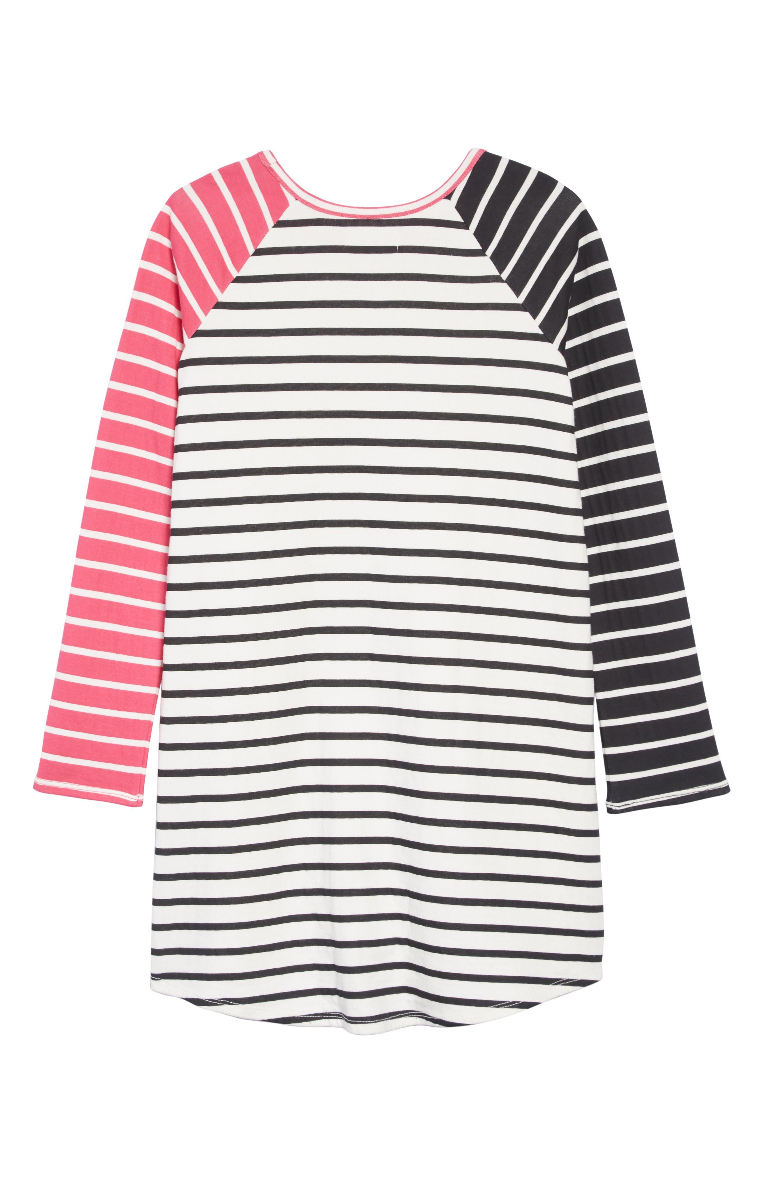 Stripe Dress,                             Alternate thumbnail 2, color,                             IVORY EGRET MULTI STRIPE