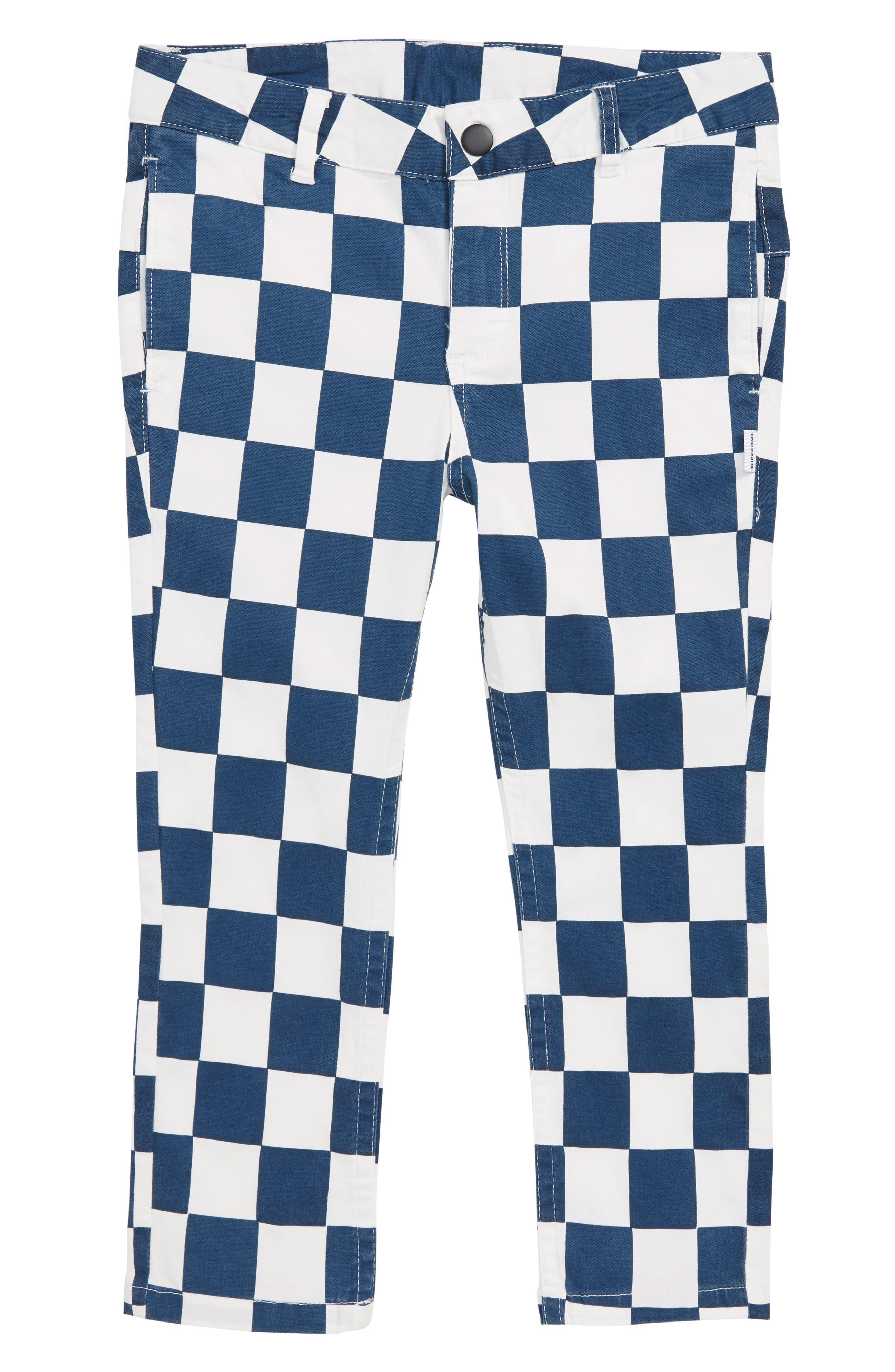 Bo Checkerboard Pants,                             Main thumbnail 1, color,                             NAVY