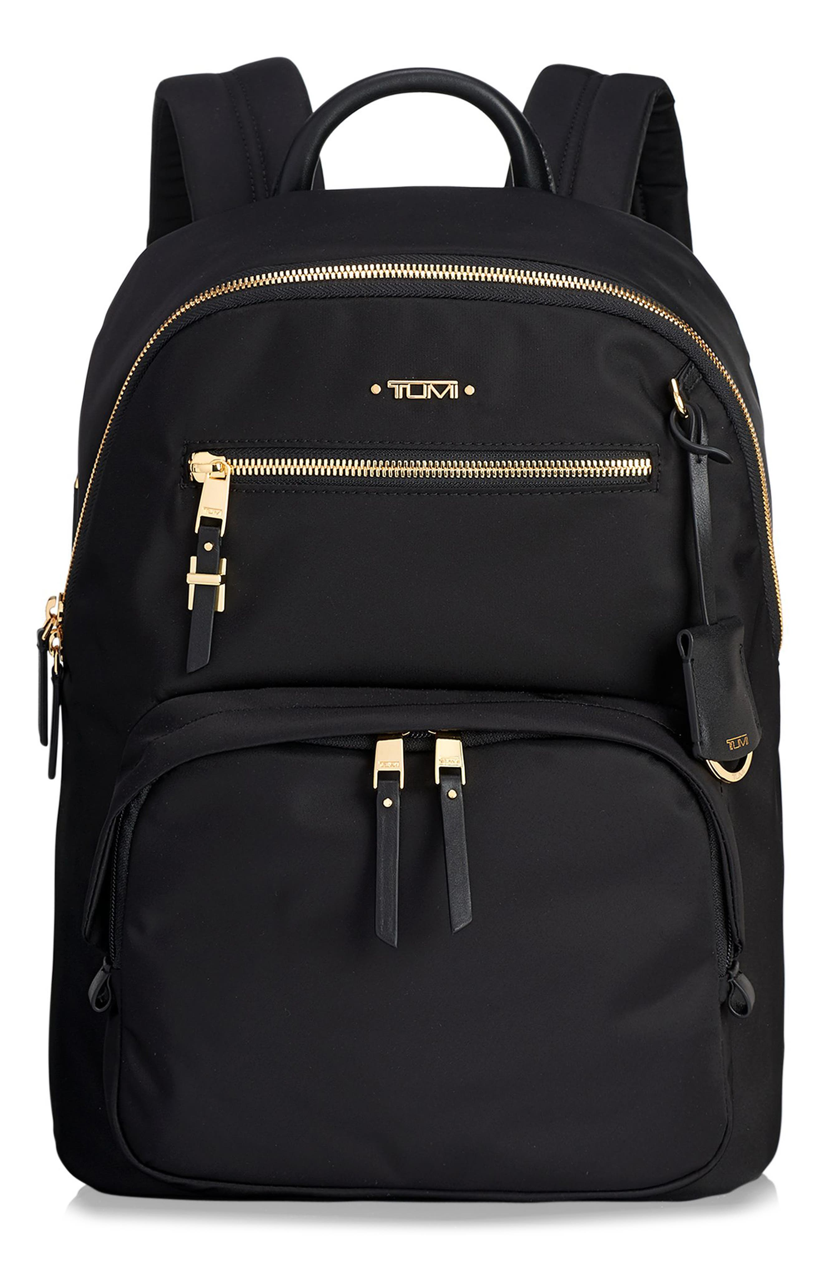 TUMI Voyageur Hagen Nylon Backpack, Main, color, BLACK