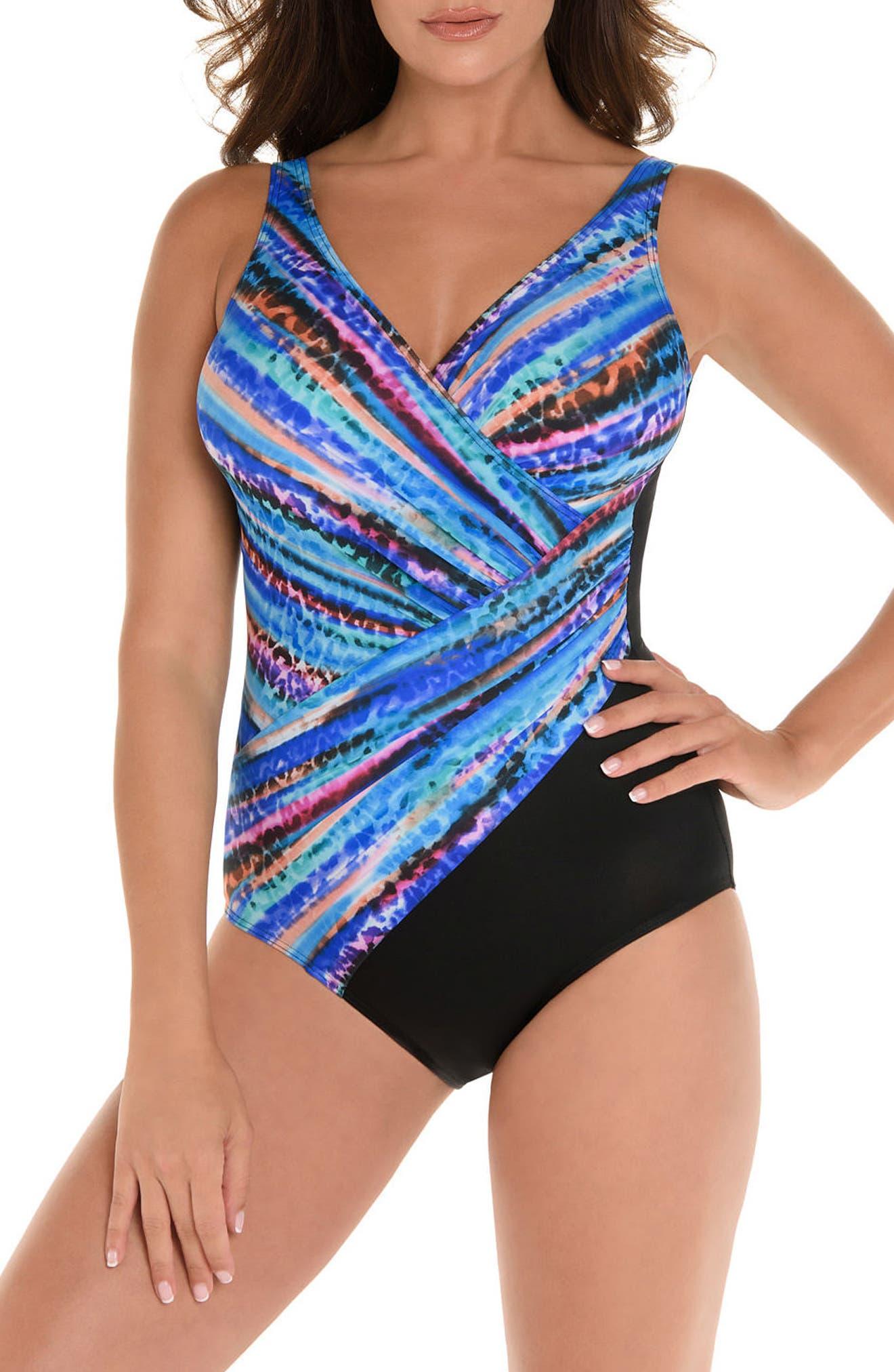 Animal Spectrum Oceanus One-Piece Swimsuit,                             Main thumbnail 1, color,                             MULTI
