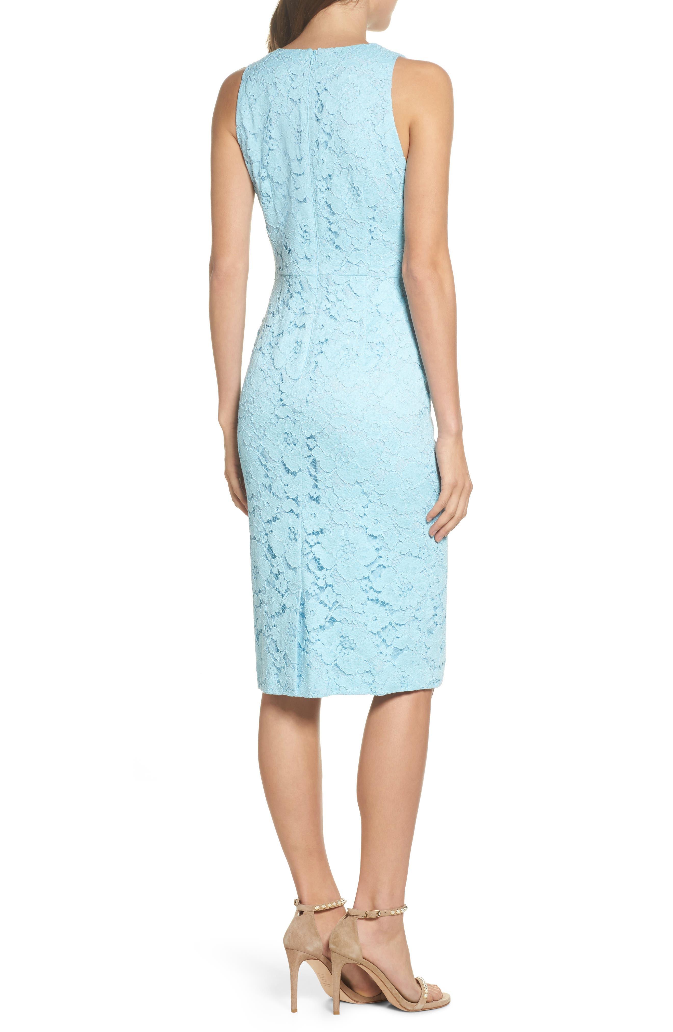 Appliqué Lace Sheath Dress,                             Alternate thumbnail 2, color,                             460
