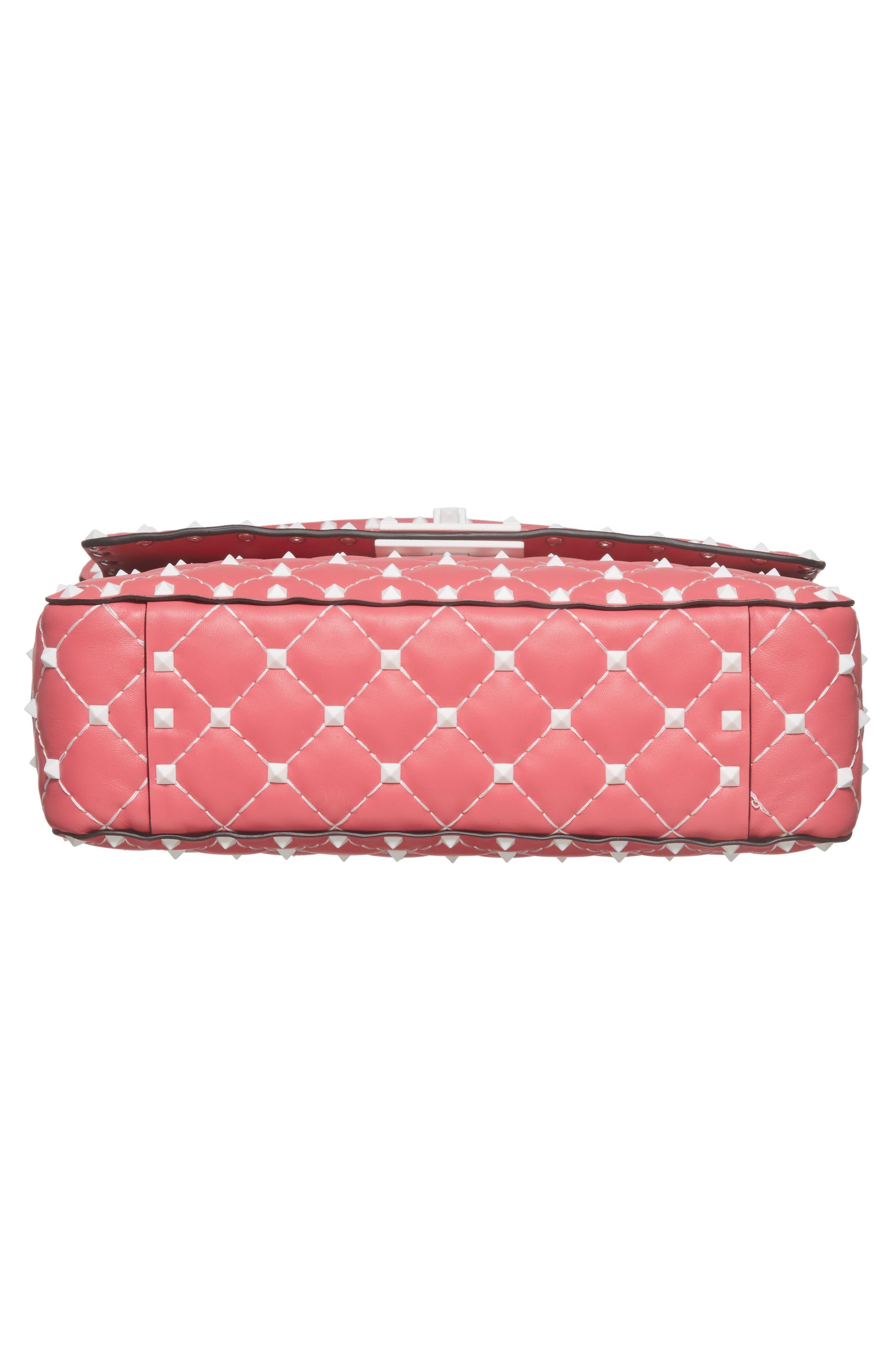 Medium Rockstud Matelassé Leather Shoulder Bag,                             Alternate thumbnail 18, color,