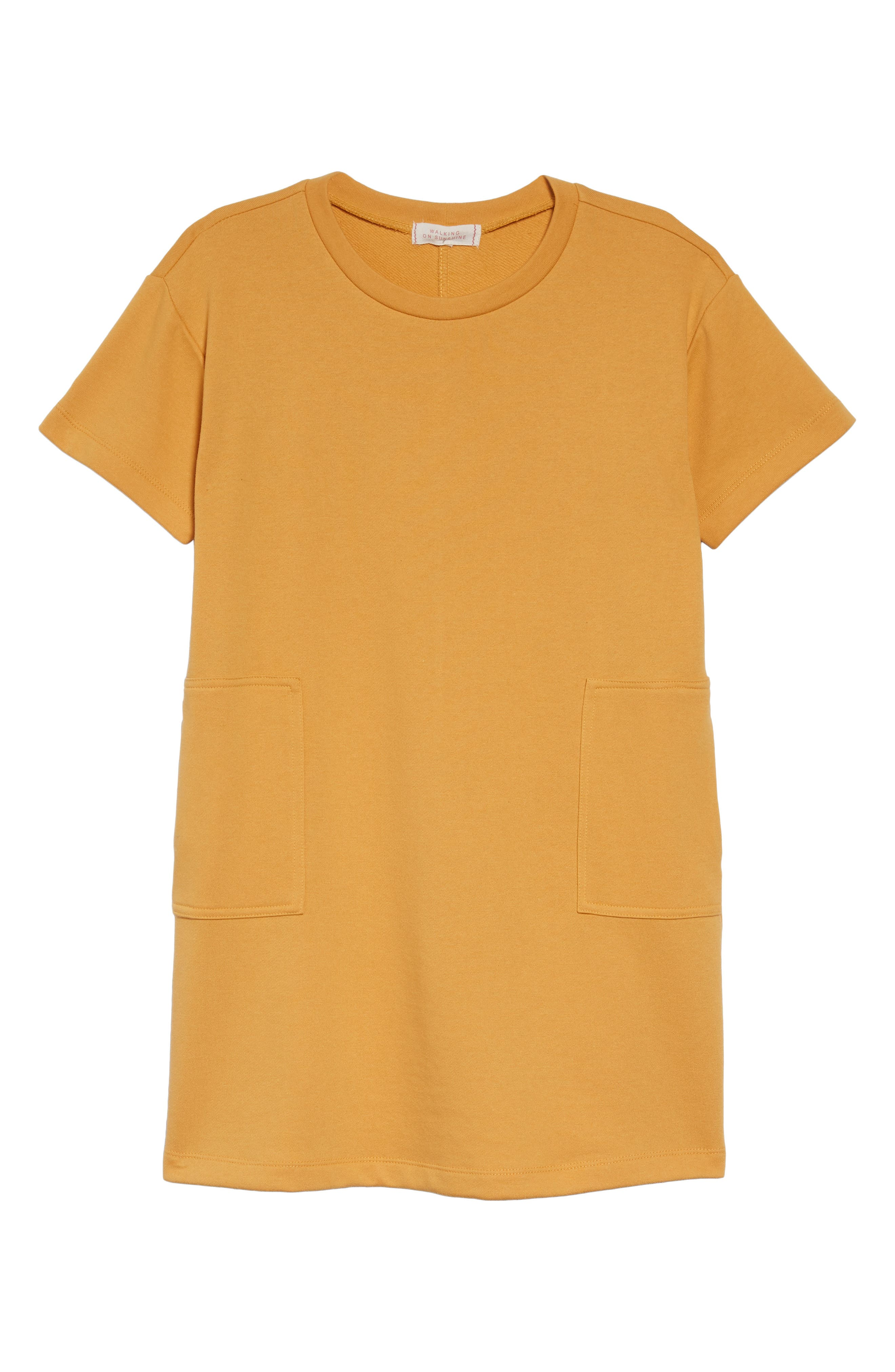 WALKING ON SUNSHINE French Terry Pocket Dress, Main, color, 700