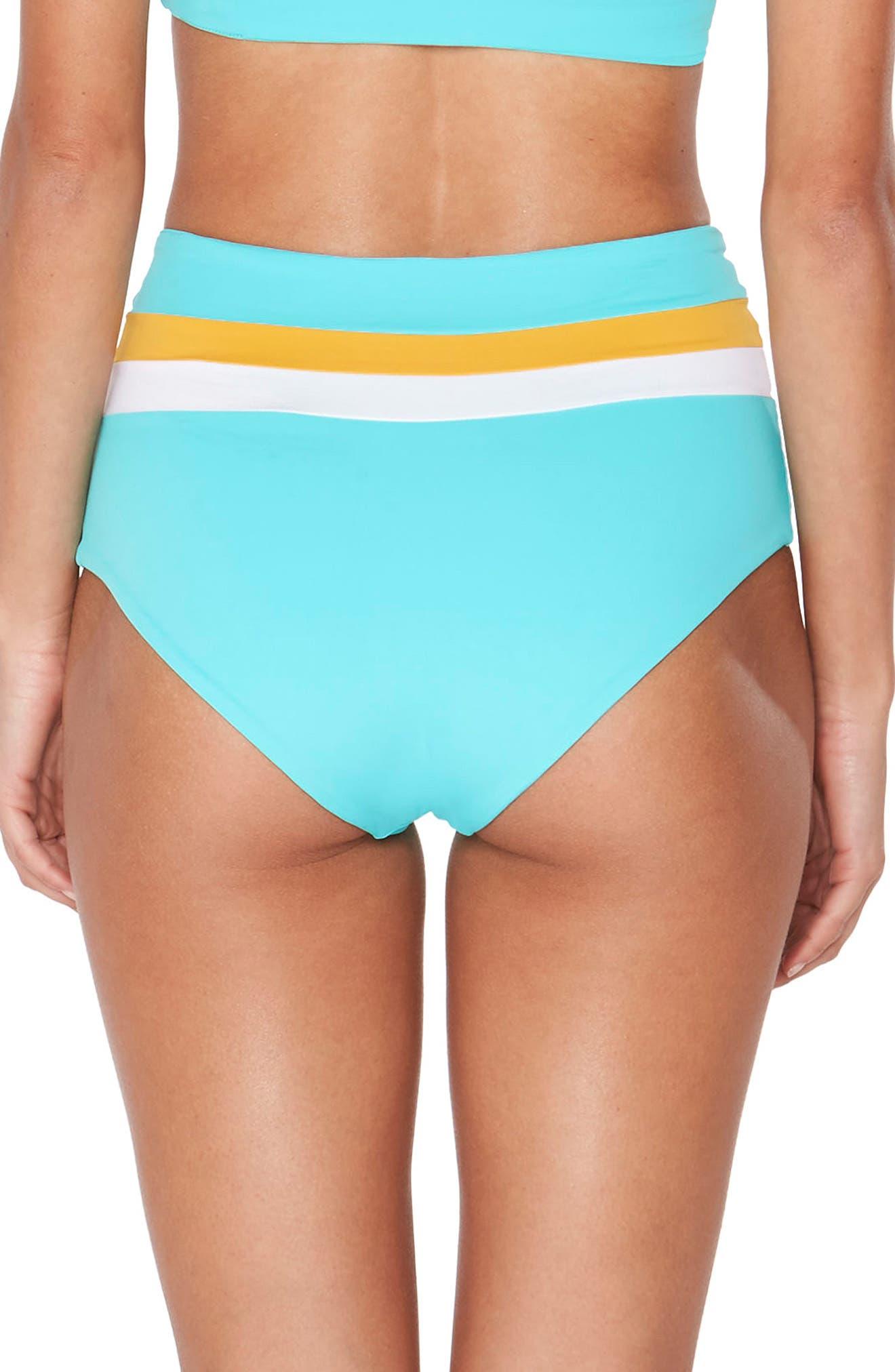 Portia Reversible Colorblock Bikini Bottoms,                             Alternate thumbnail 6, color,