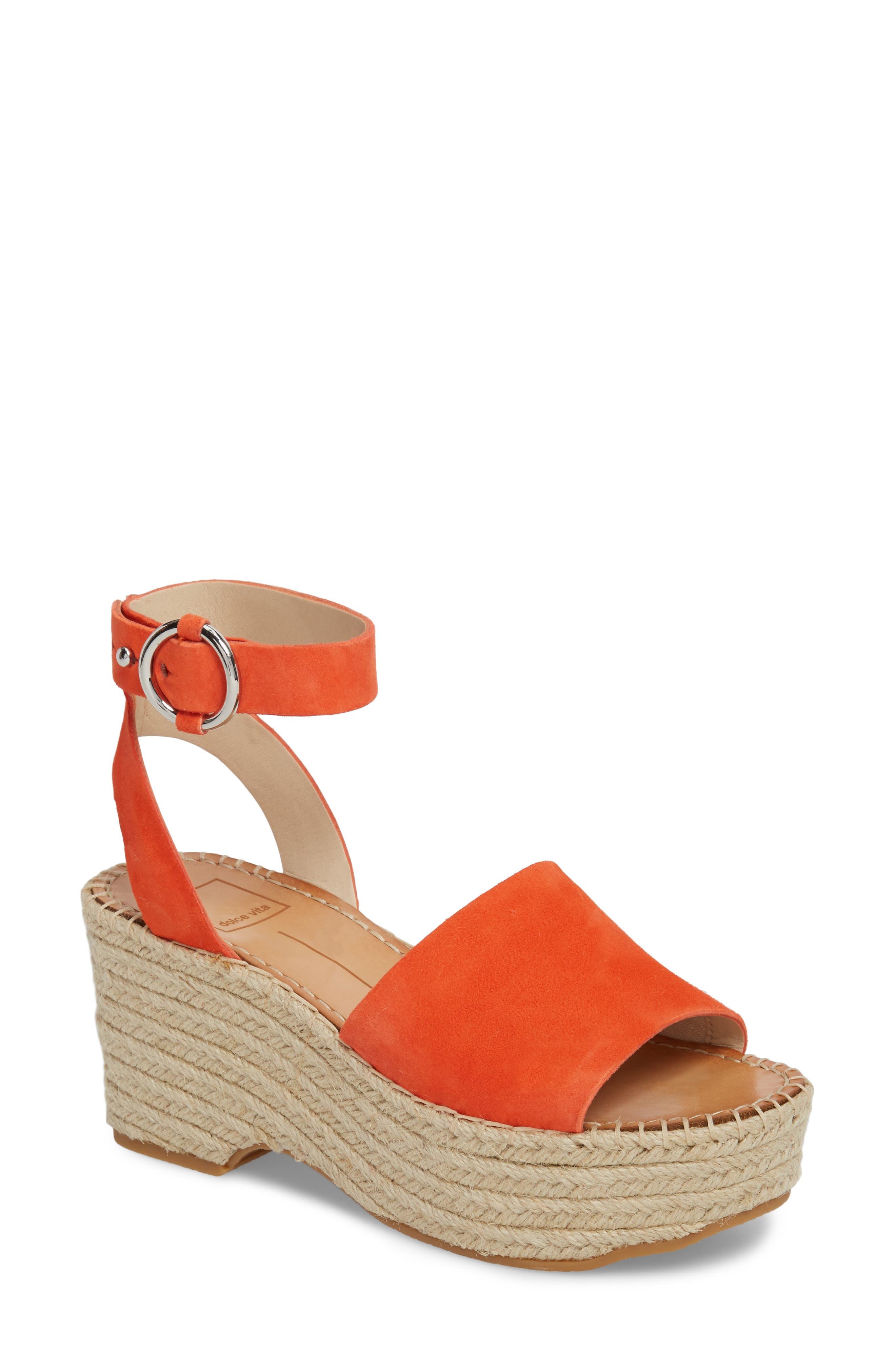 Lesly Espadrille Platform Sandal,                             Main thumbnail 6, color,