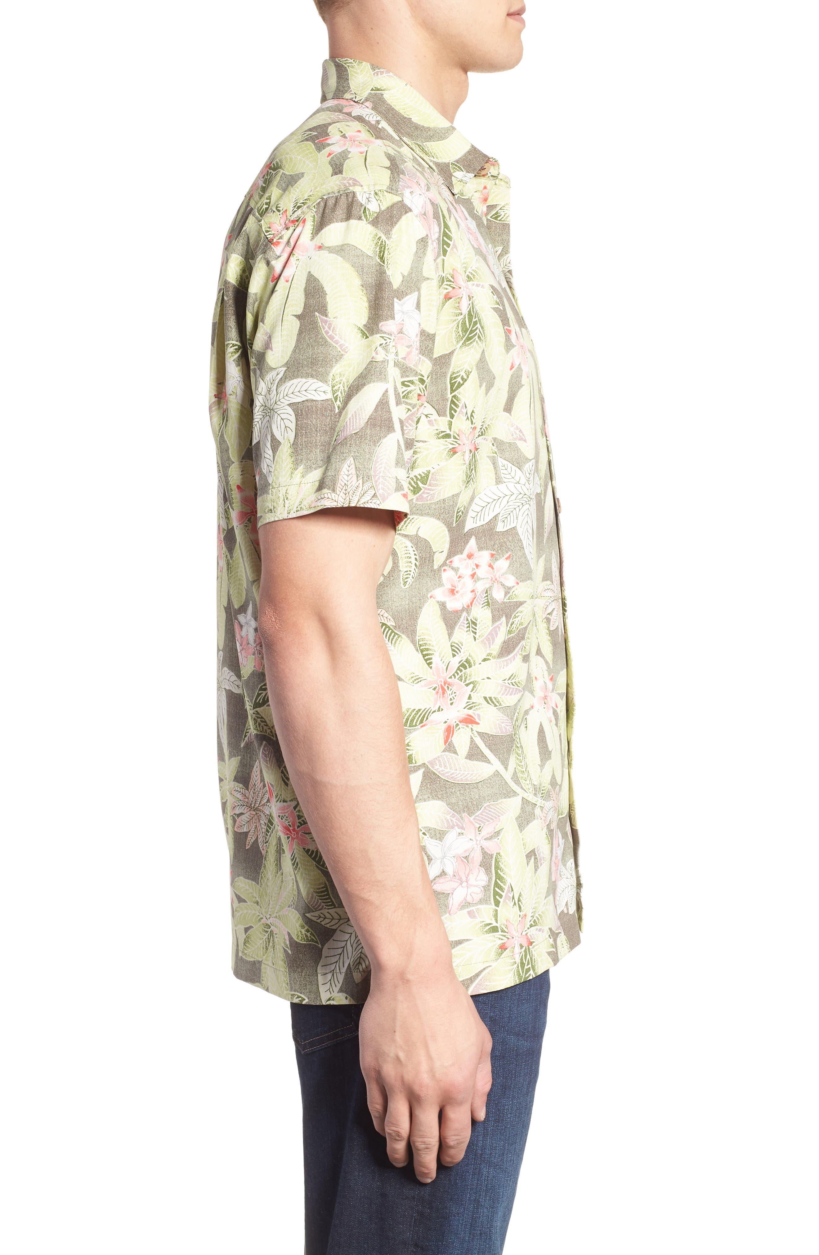 El Medano Jungle Silk Camp Shirt,                             Alternate thumbnail 5, color,