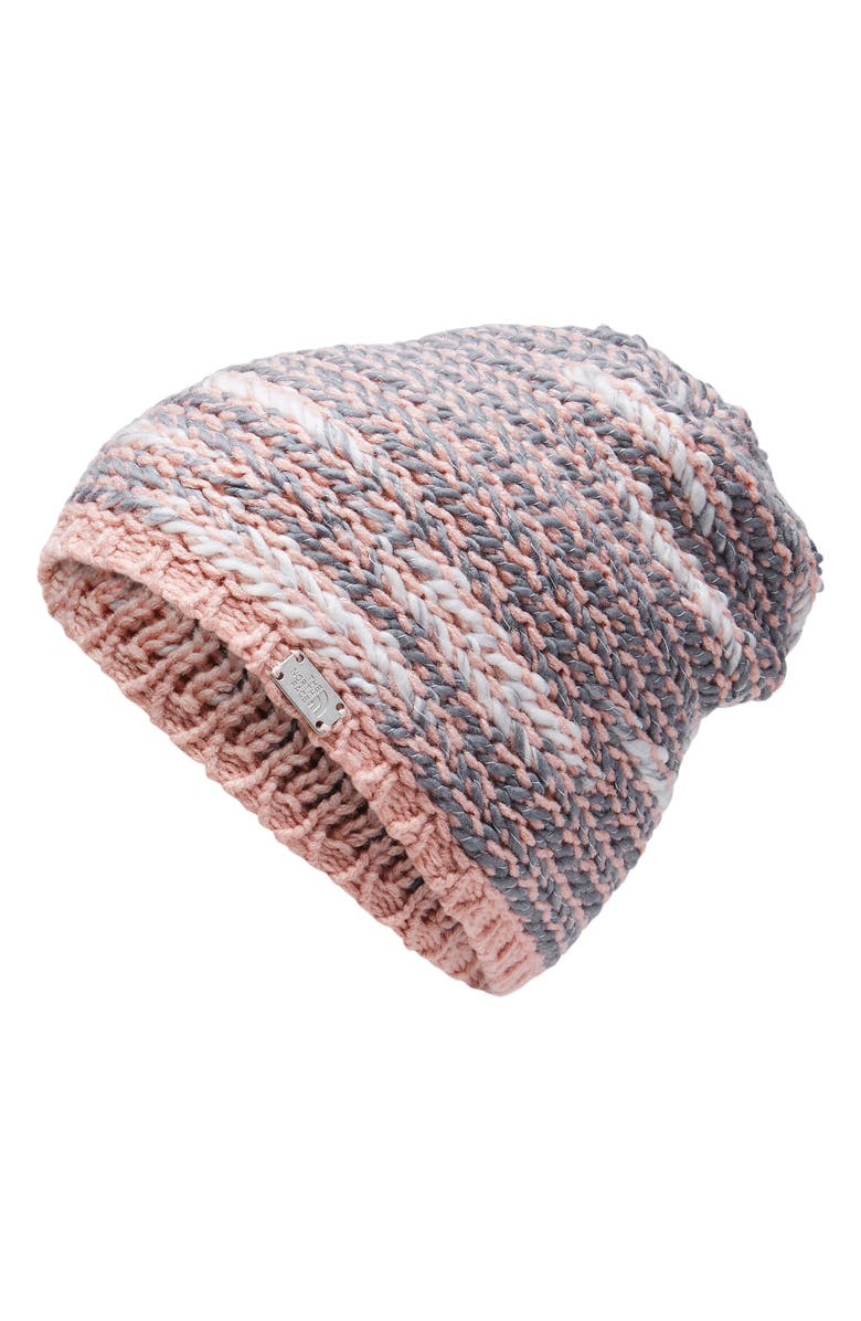 The North Face Kaylinda Slouchy Beanie - Pink In Misty Rose  Mid Grey a51e522435b