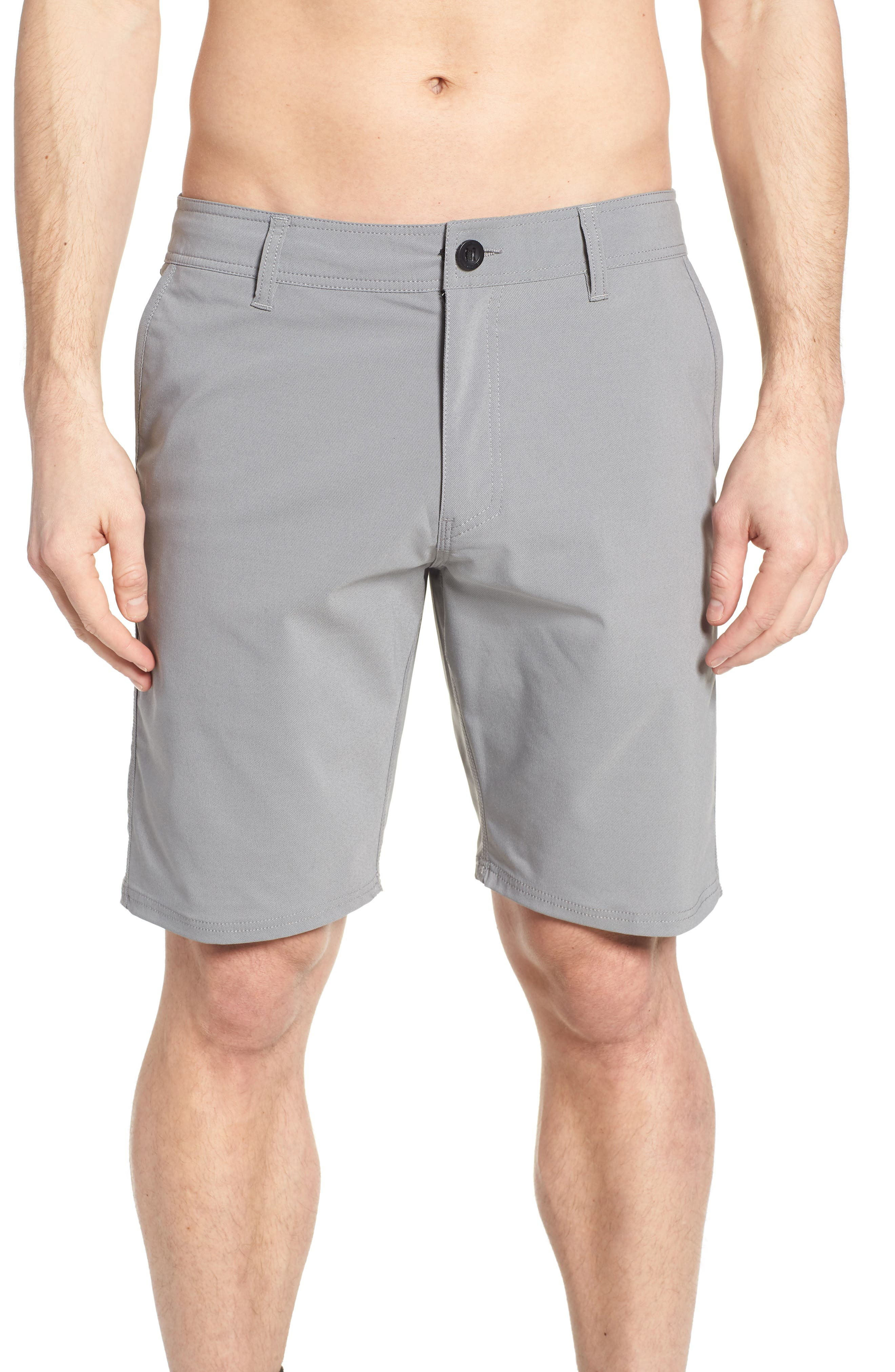 Stockton Hybrid Shorts,                             Alternate thumbnail 4, color,                             GREY