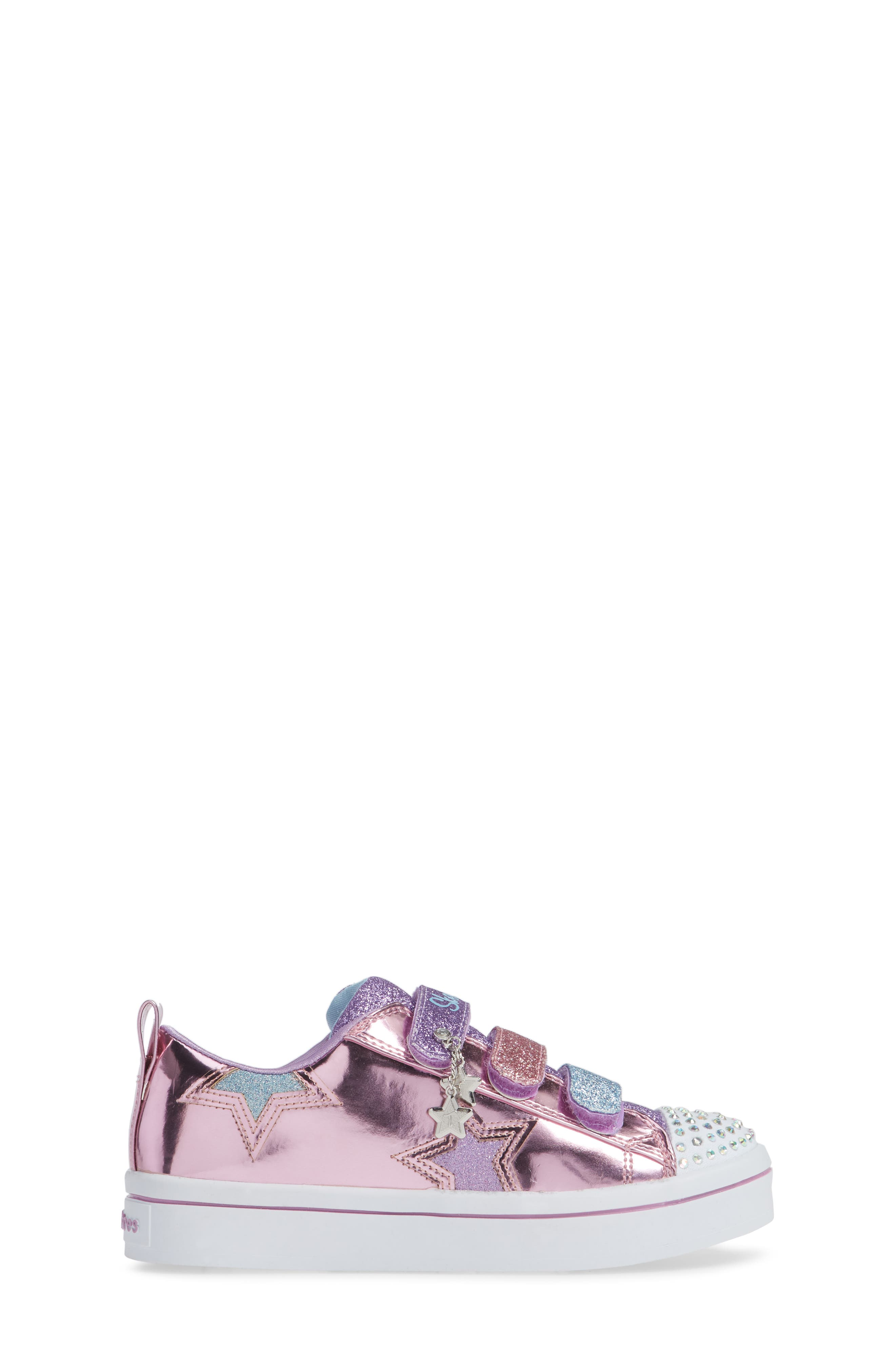 Twi-Lites Star Light-Up Sneaker,                             Alternate thumbnail 3, color,                             PINK/ MULTI