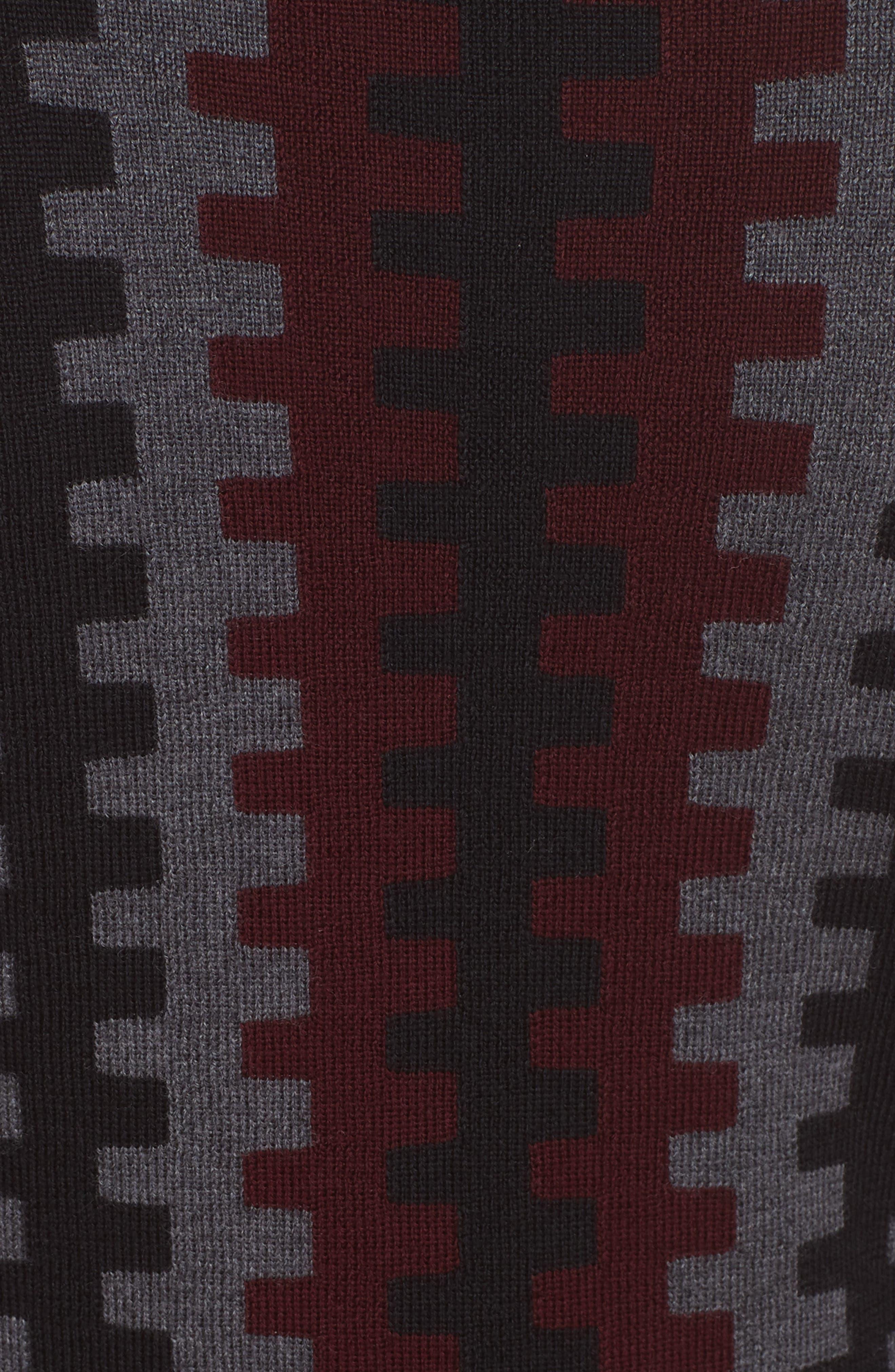 Diane von Furstenberg Turtleneck Merino Wool Midi Dress,                             Alternate thumbnail 5, color,                             200