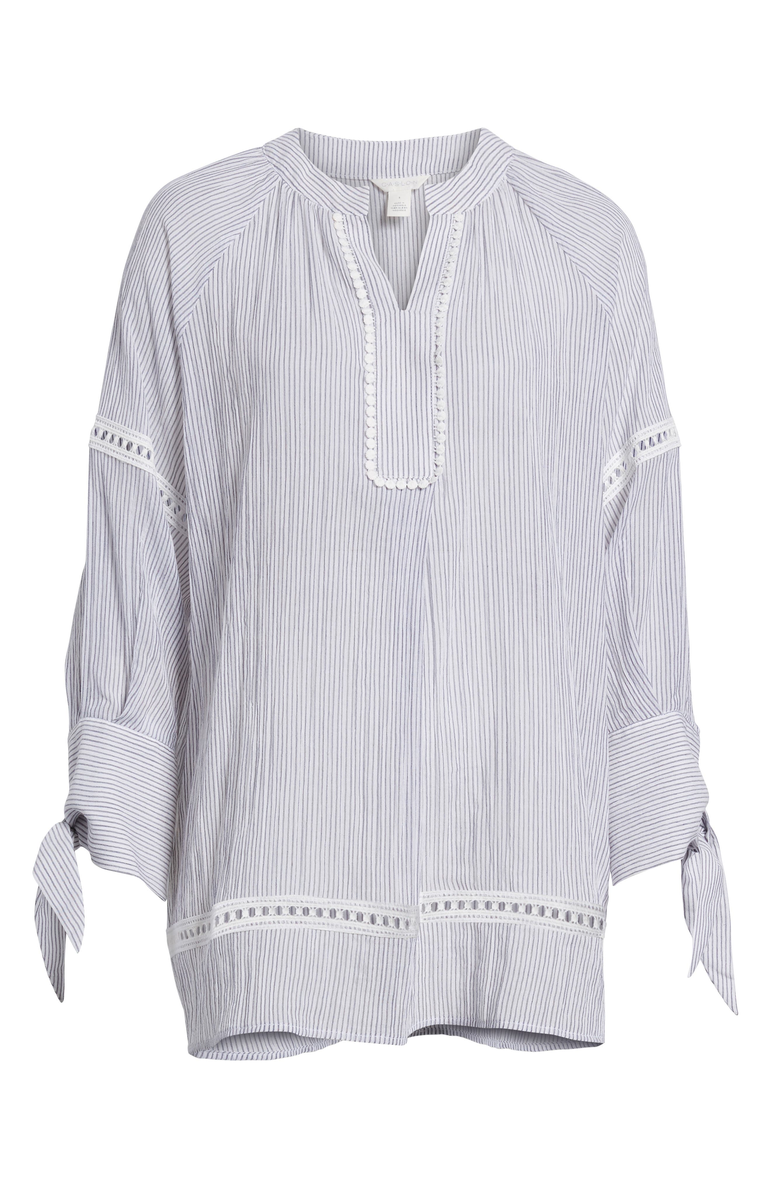 Tie Sleeve Woven Tunic,                             Alternate thumbnail 7, color,                             410
