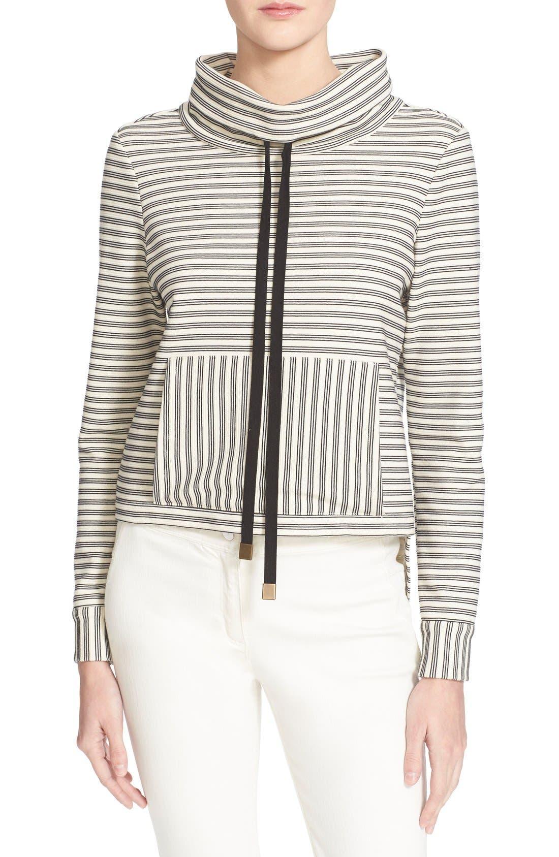 'La Brea' Funnel Neck Sweatshirt, Main, color, 100