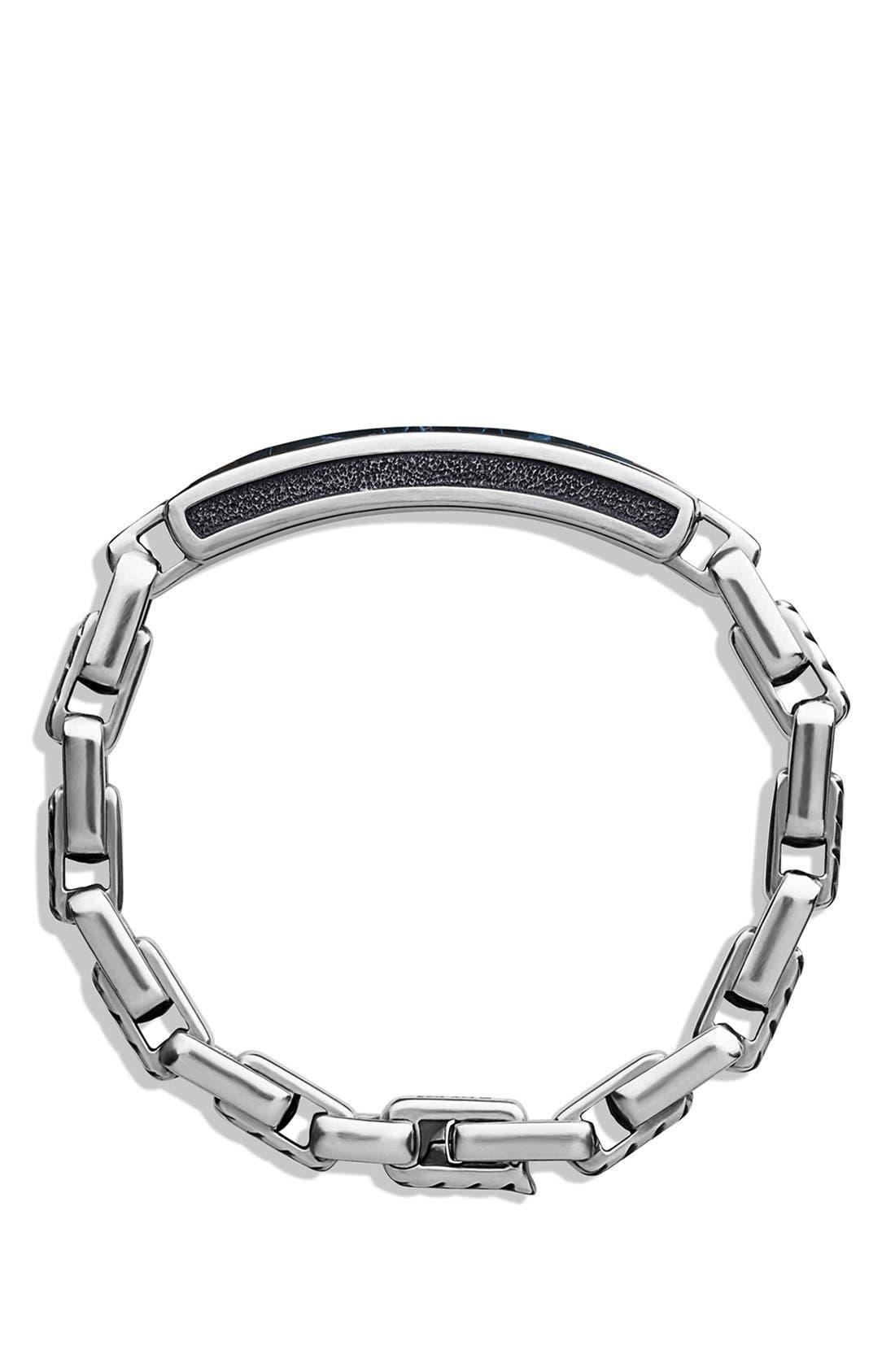 ' Modern Cable' ID Bracelet,                             Alternate thumbnail 4, color,