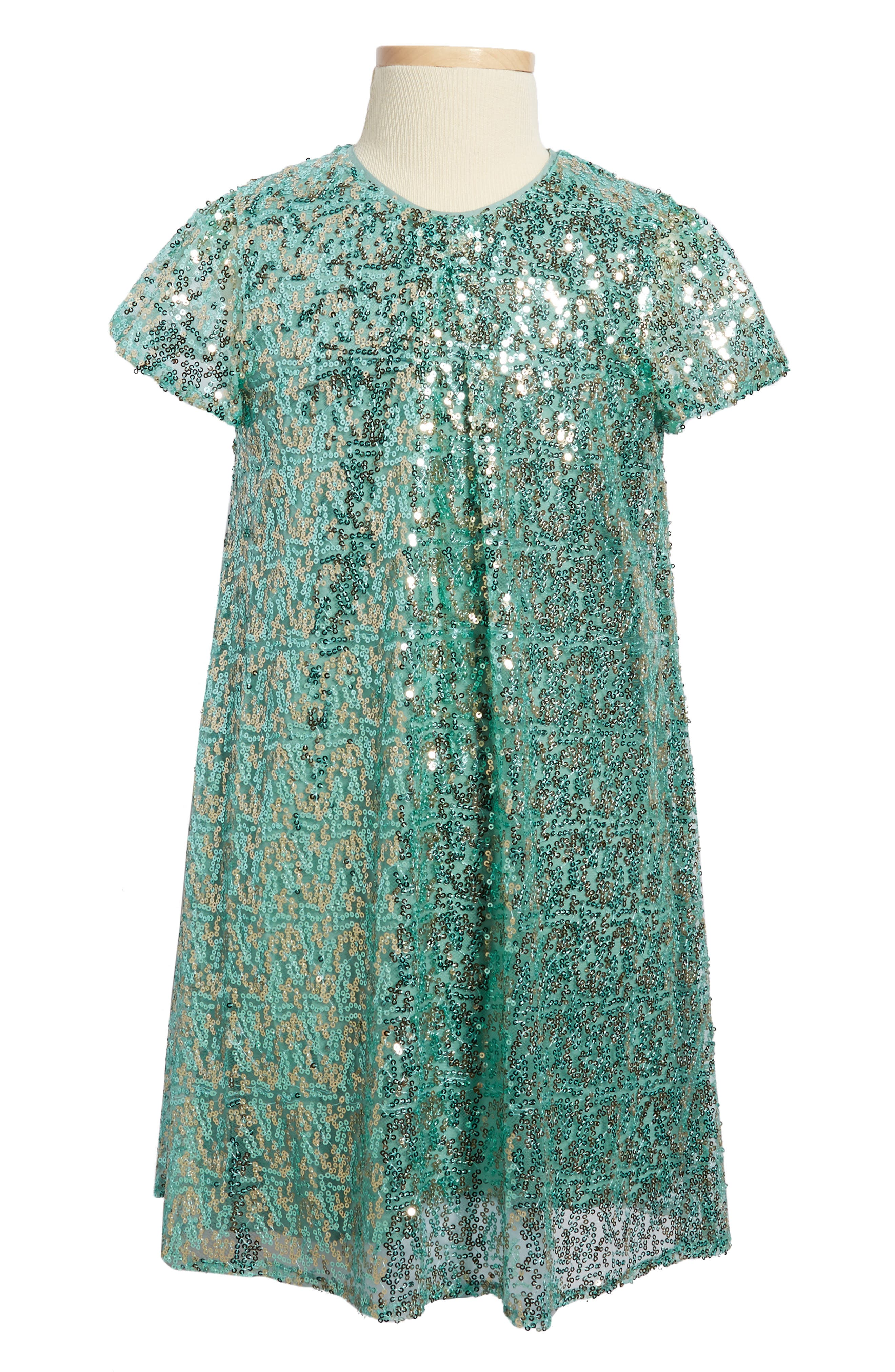 Sequin Embellished Dress,                             Main thumbnail 1, color,                             400