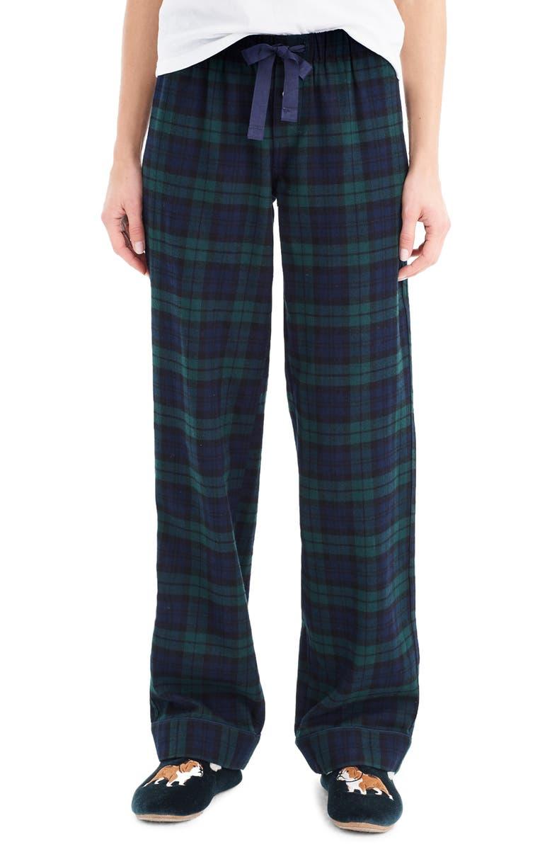 1f78a5f316 J.Crew Vintage Black Watch Plaid Flannel Pajama Pants