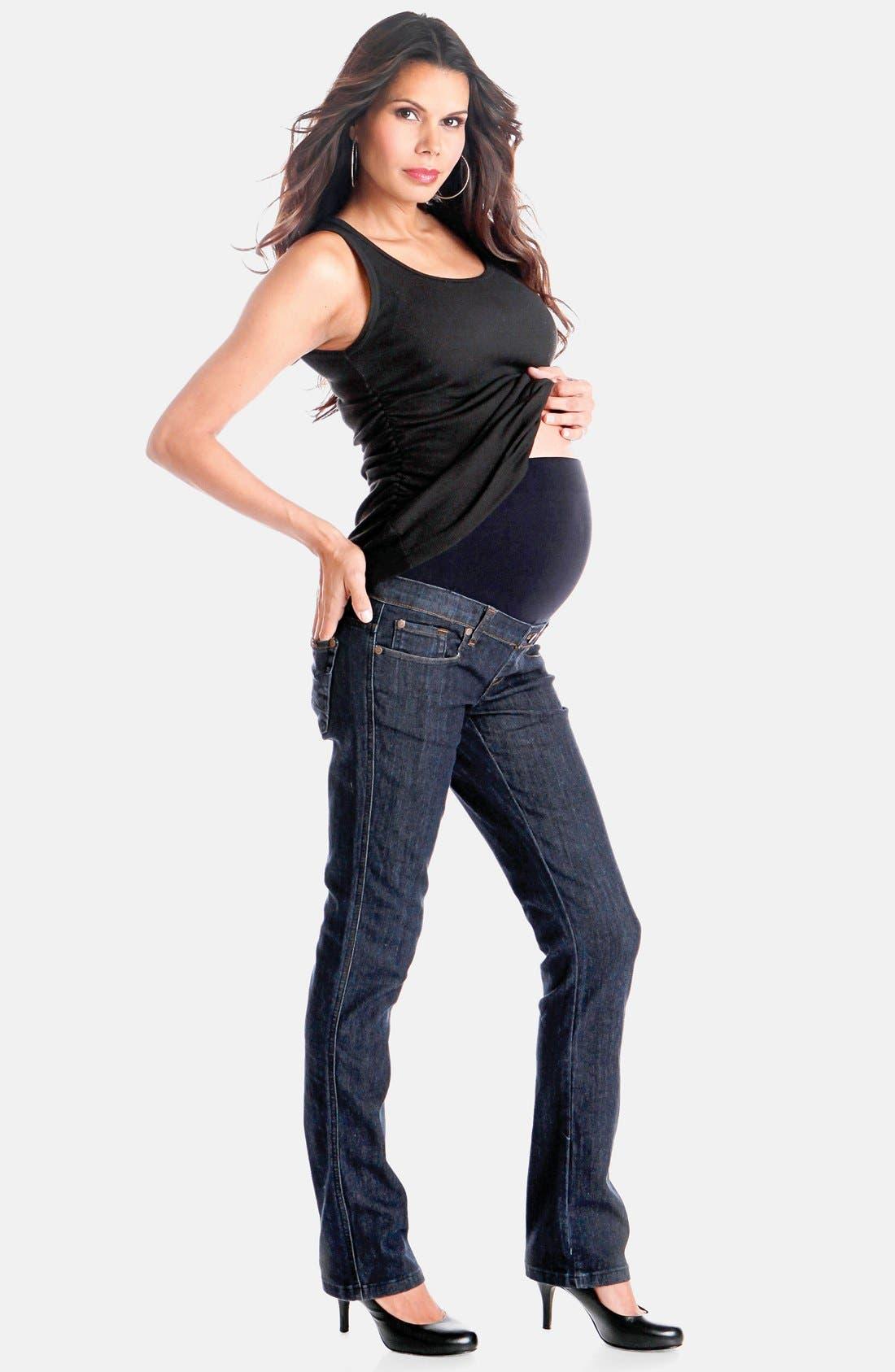 Maternity Jeans,                             Alternate thumbnail 6, color,                             400