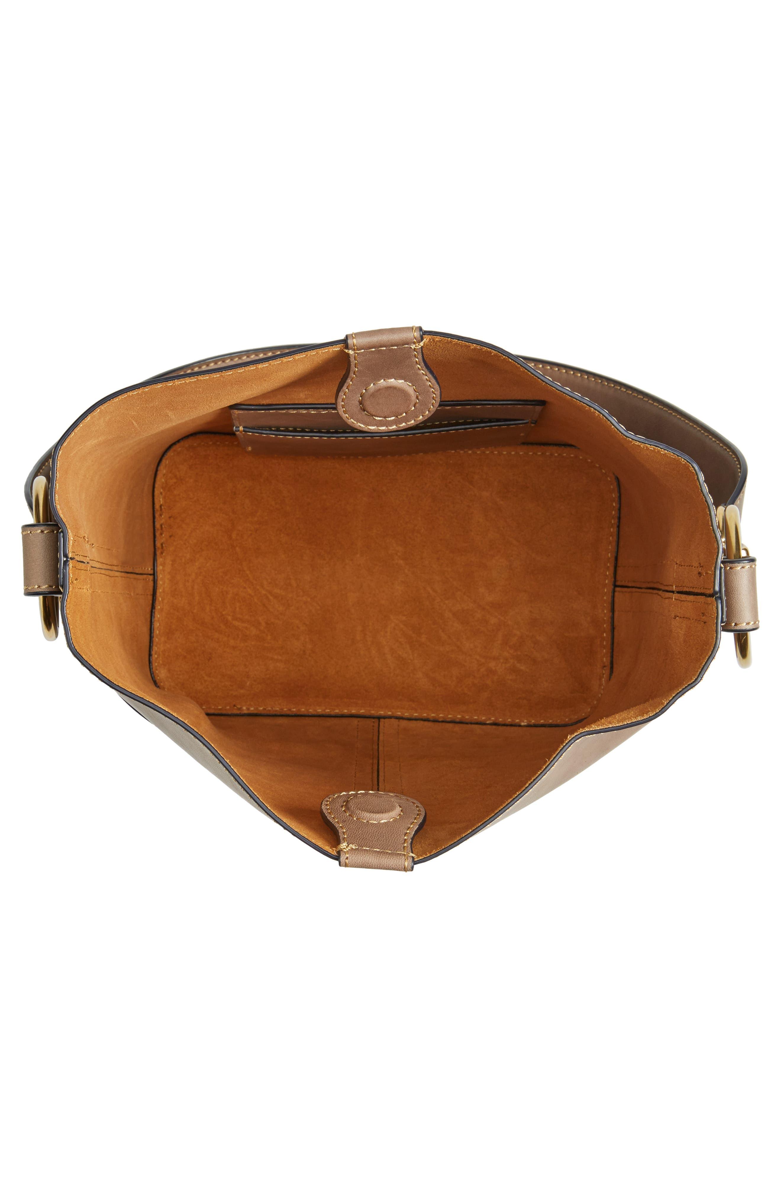 Ilana Leather Bucket Bag,                             Alternate thumbnail 4, color,                             030