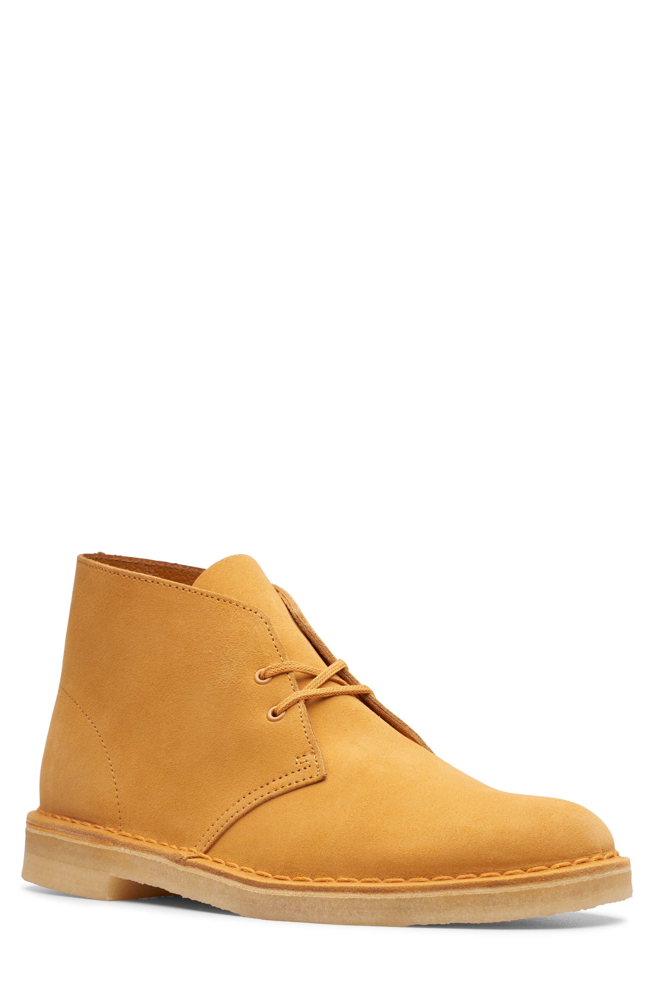 CLARKS<SUP>®</SUP>,                             Originals 'Desert' Boot,                             Main thumbnail 1, color,                             TURMERIC/BROWN SUEDE