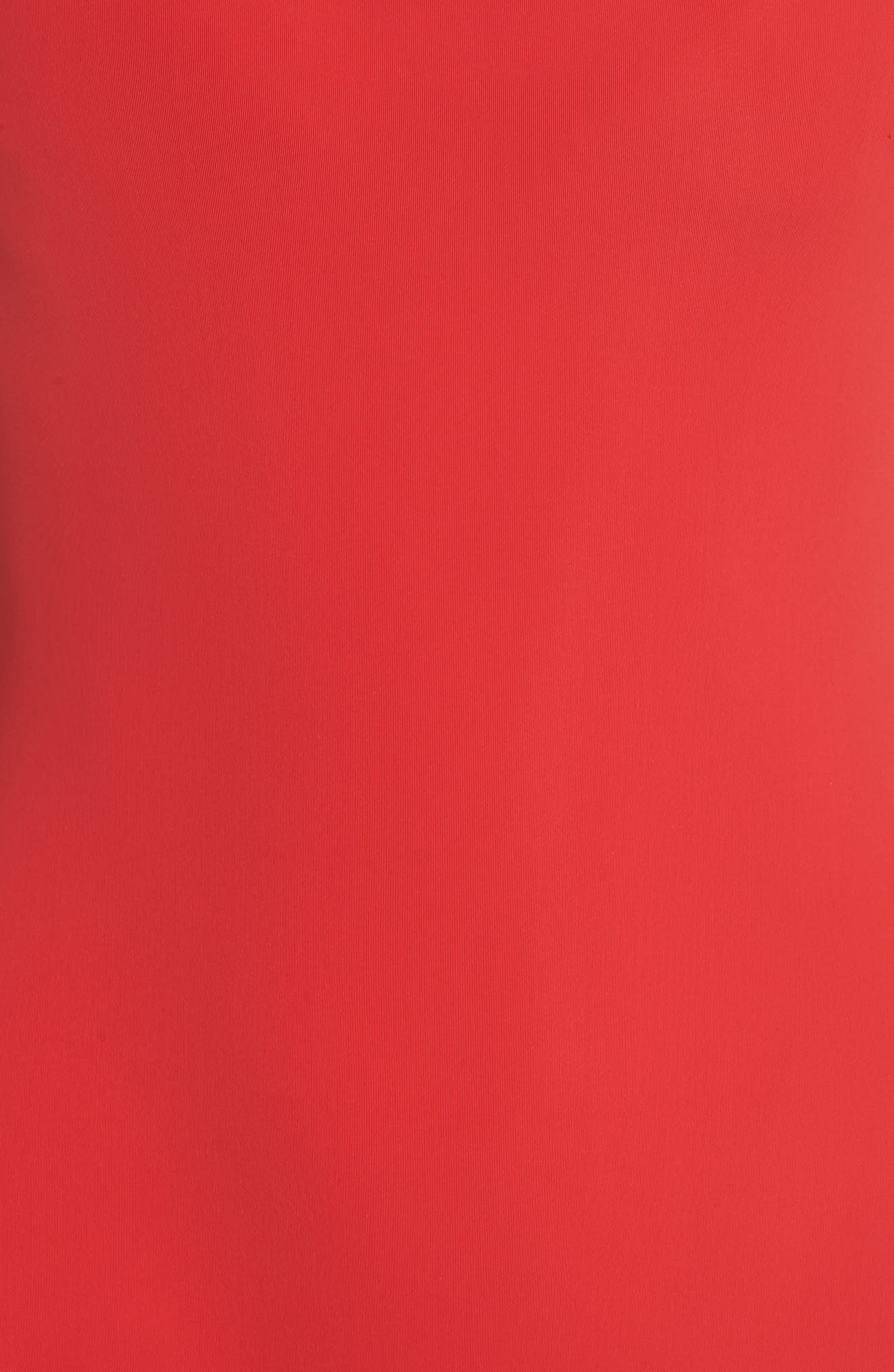 Barrel One-Piece Swimsuit,                             Alternate thumbnail 5, color,                             RED/ ORANGE