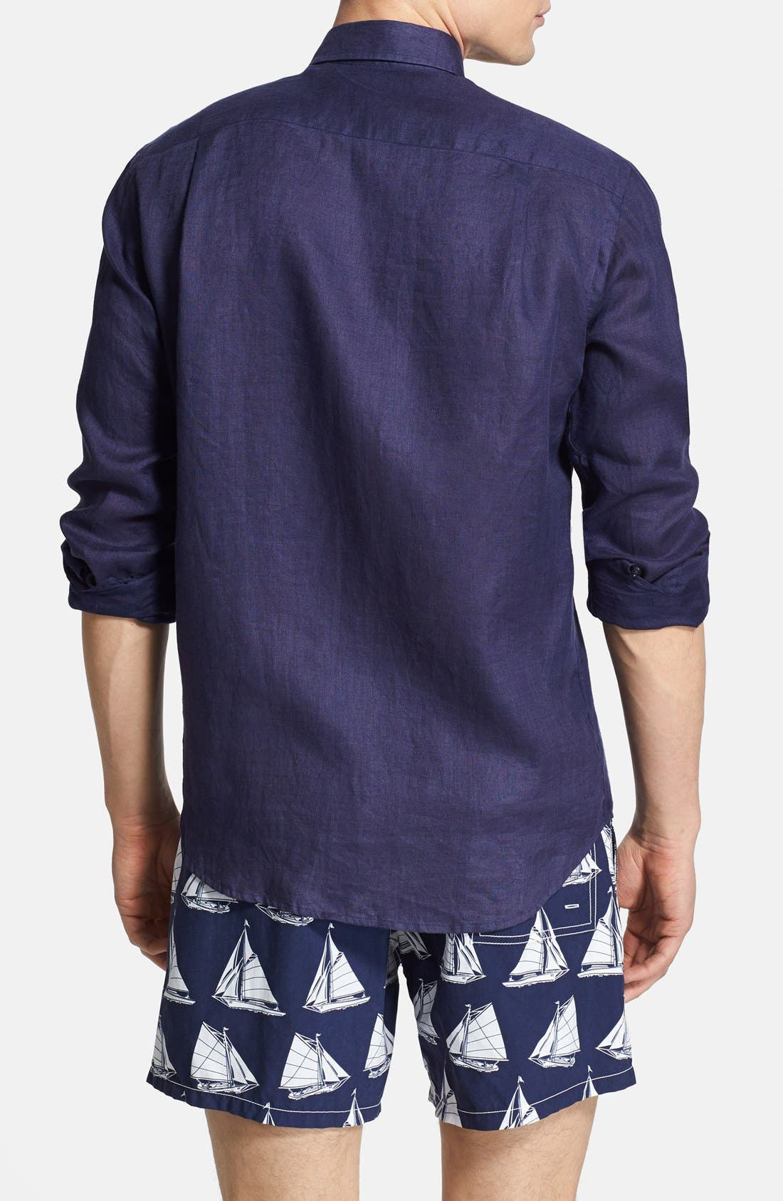 'Caroubier' Linen Shirt,                             Alternate thumbnail 46, color,