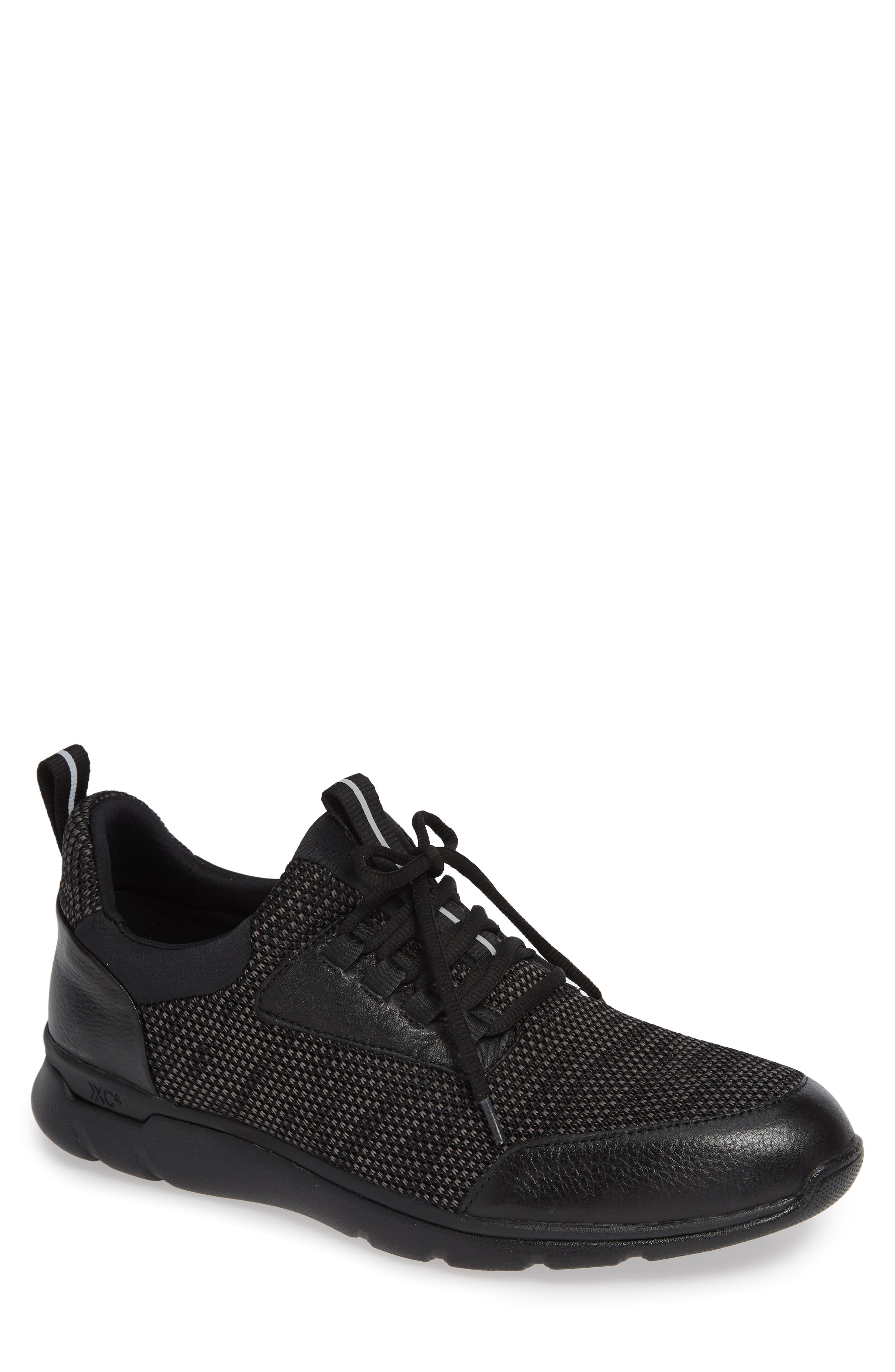 Prentiss XC4<sup>®</sup> Waterproof Sneaker,                         Main,                         color, BLACK LEATHER
