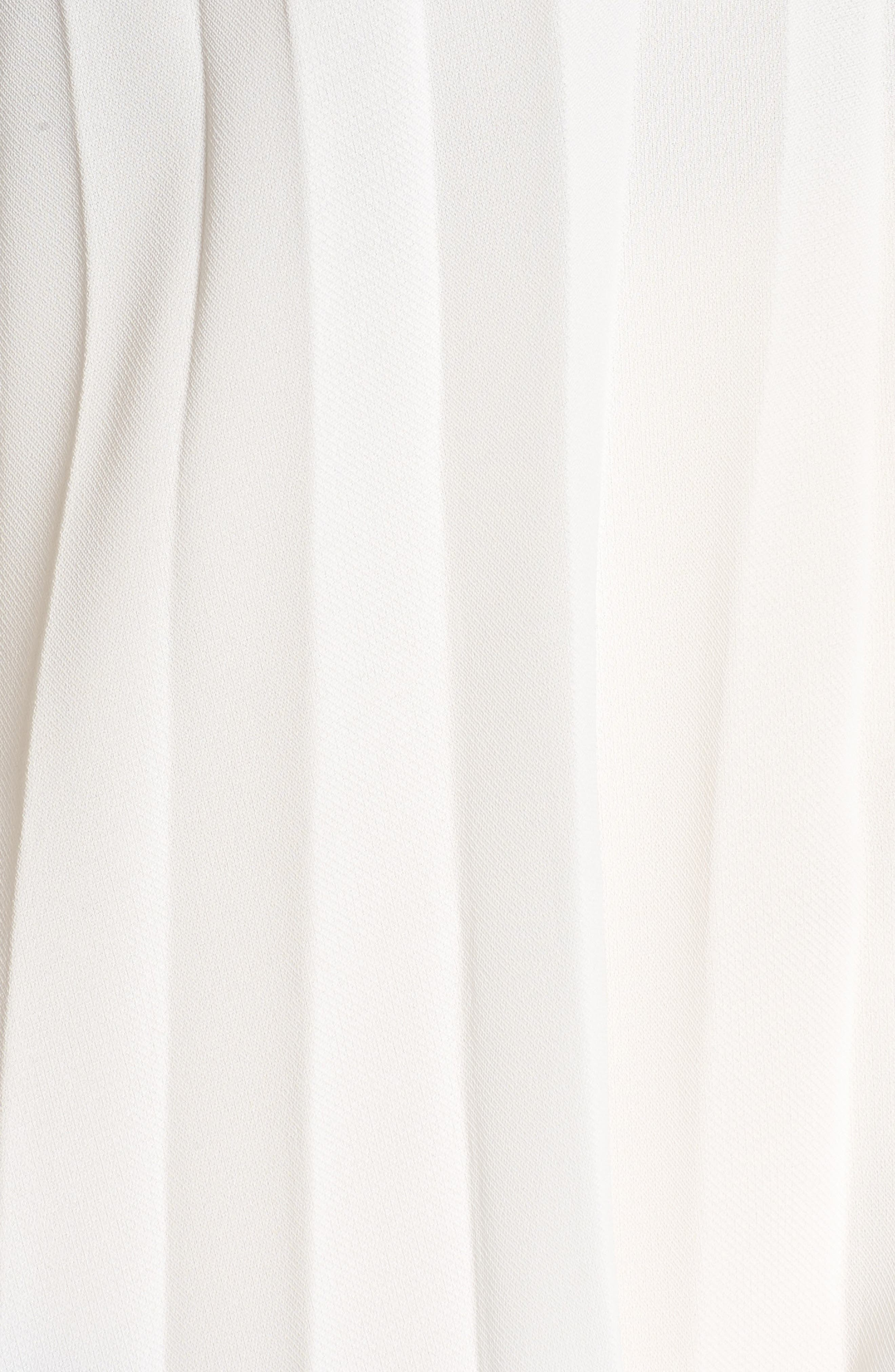 Bishop + Young Pleated Top,                             Alternate thumbnail 6, color,                             WHITE