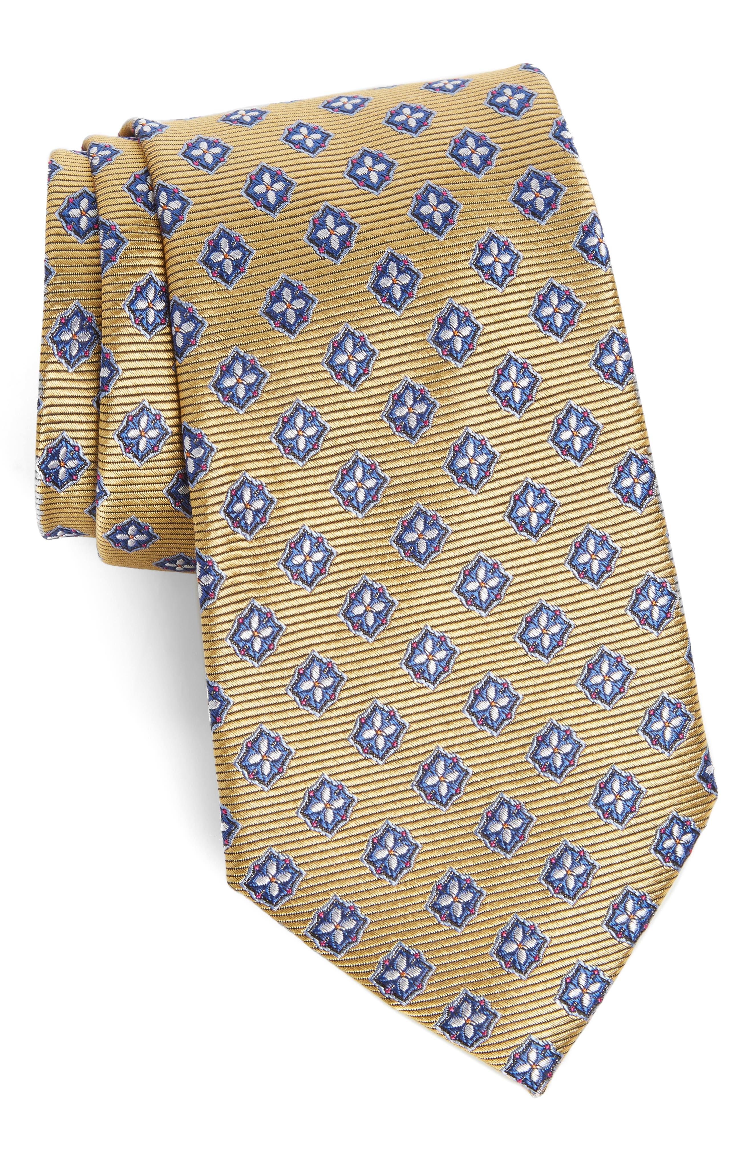 Medallion Silk Tie,                             Main thumbnail 5, color,